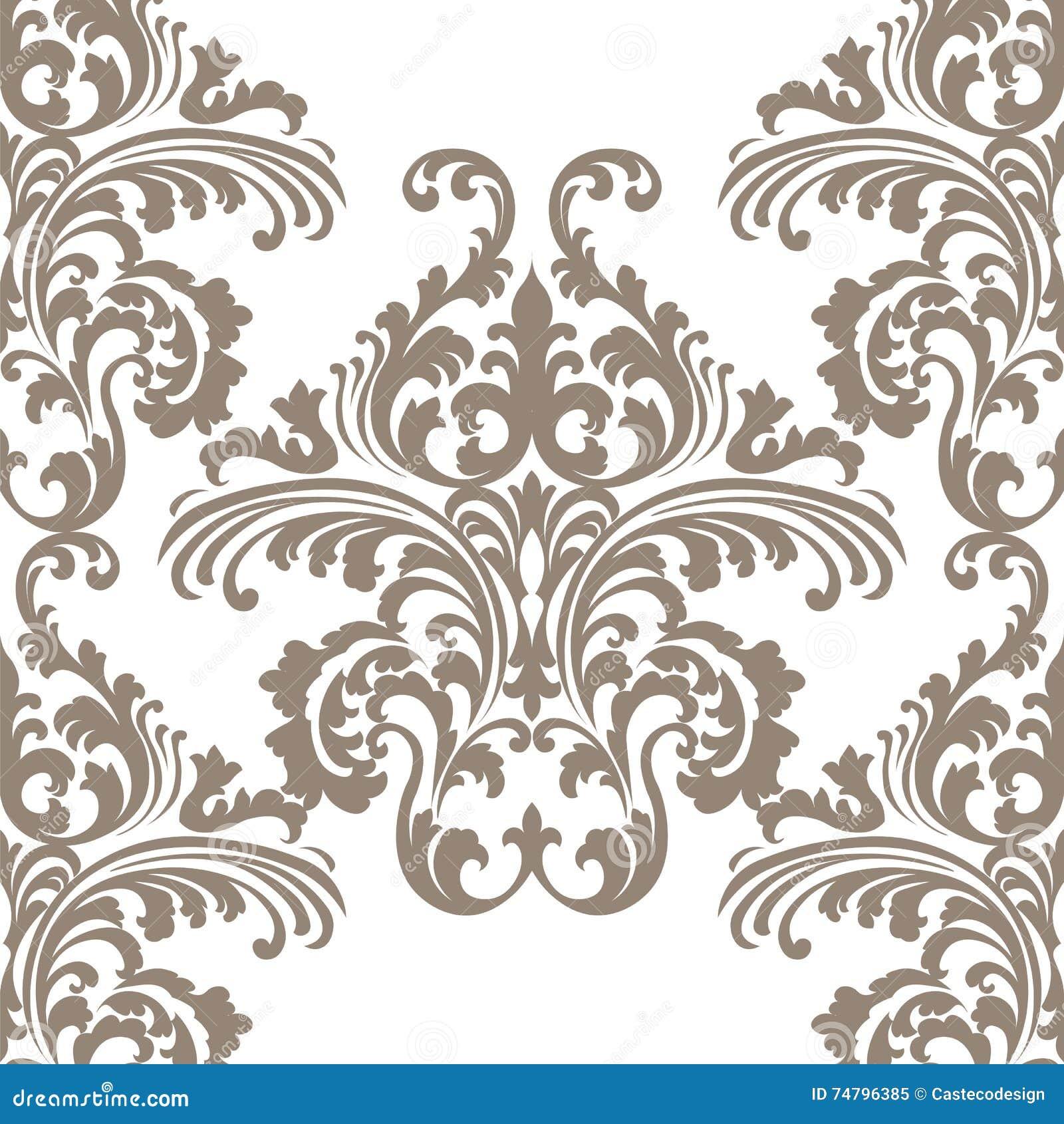 rococo motif vintage floral - photo #2