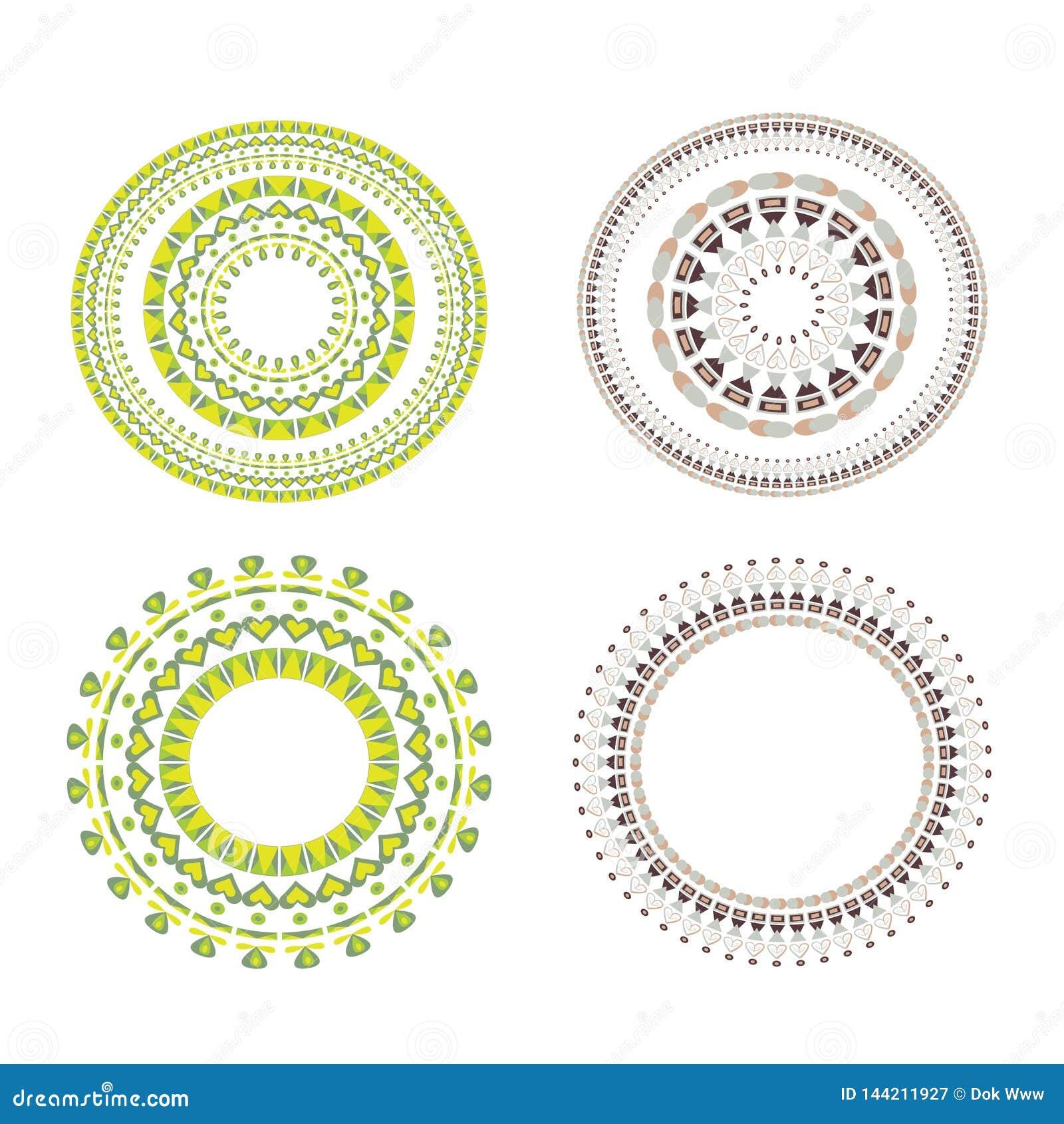 Vintage vector Set mandala. Floral elements for design of monograms, invitations, frames, menus, labels and websites.