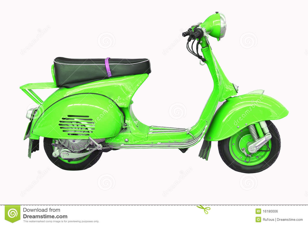 Vintage Vespa On A White Background Stock Photo - Image of vespa