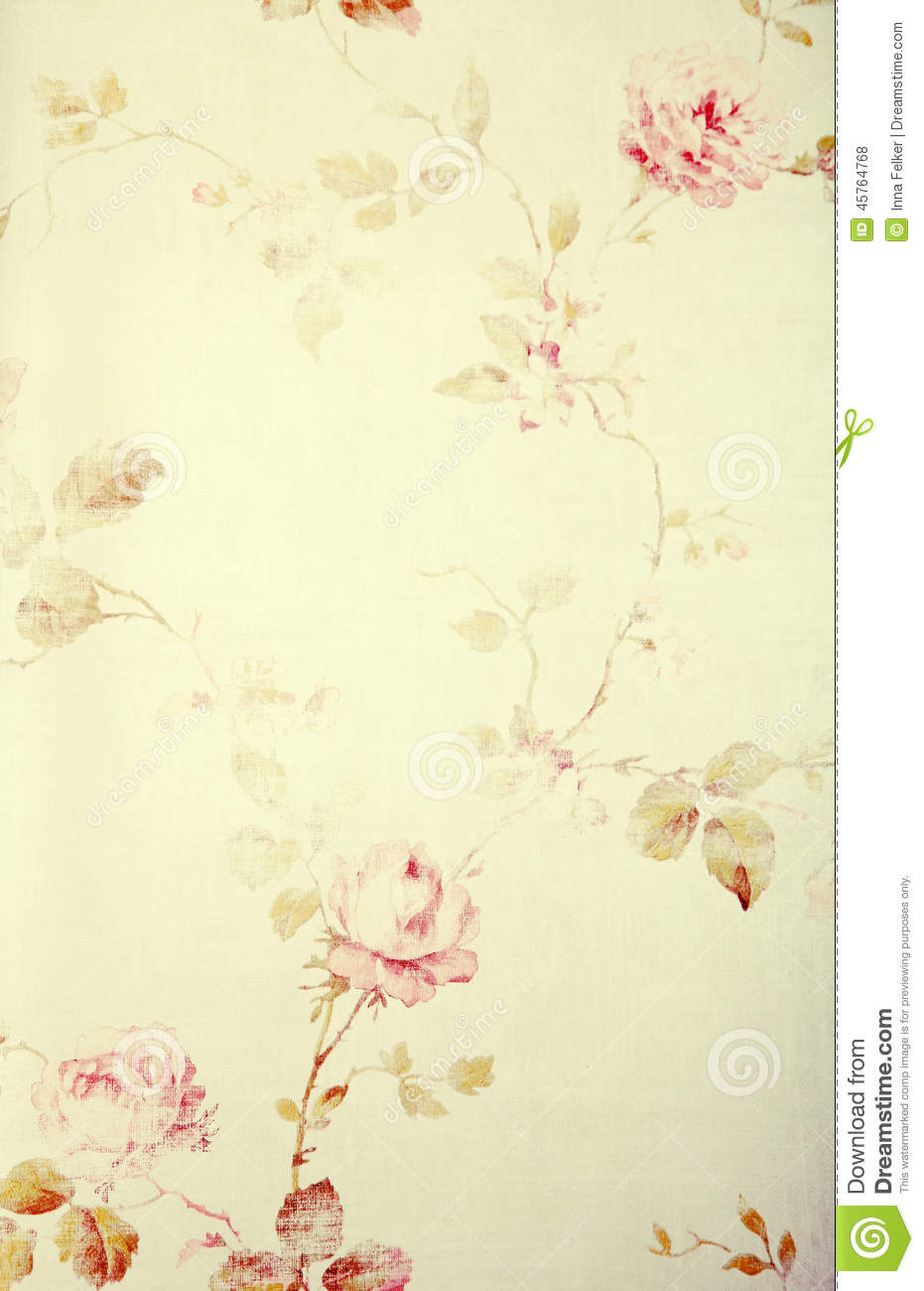 Vintage Victorian Wallpaper With Floral Pattern Stock ...