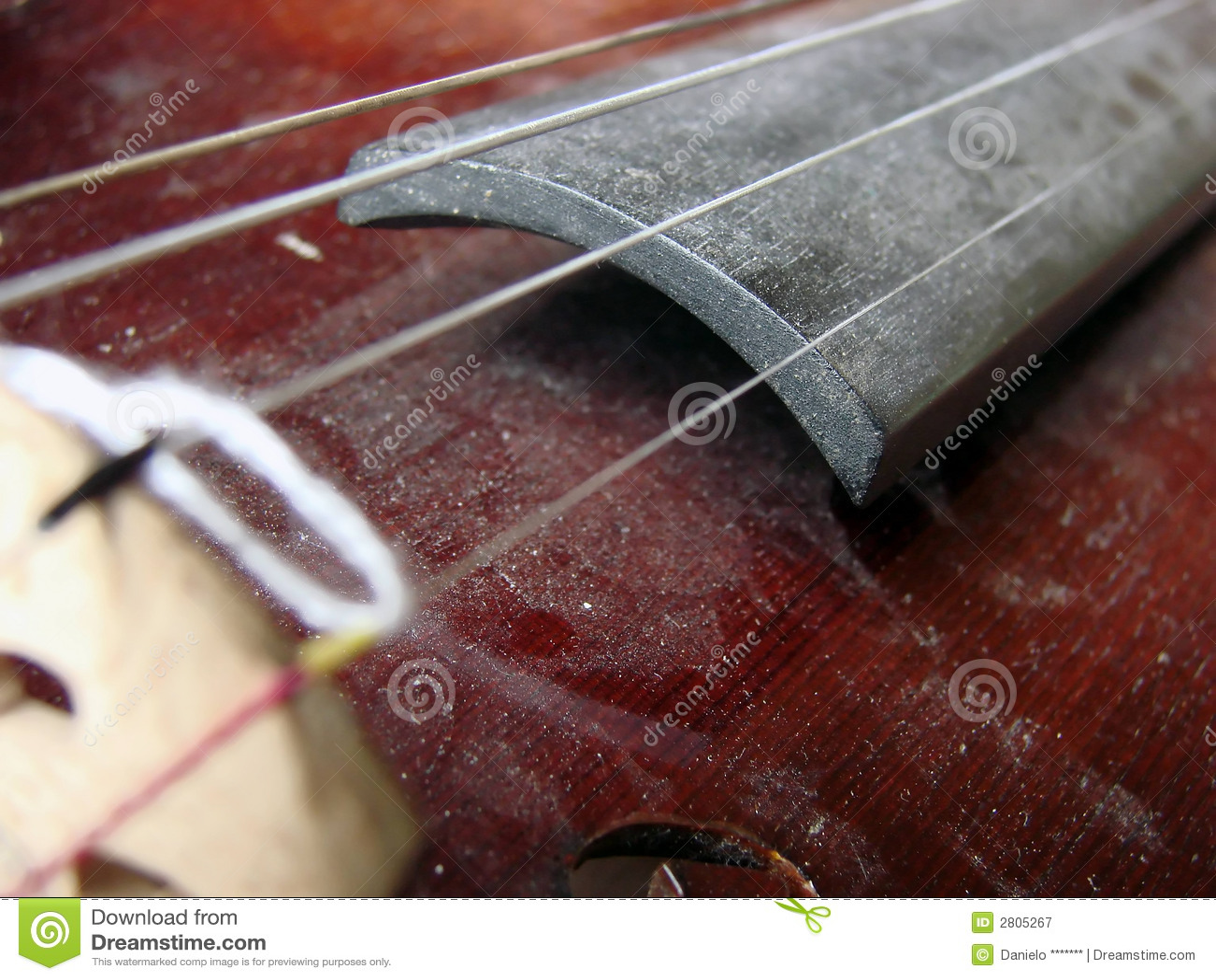 Vintage violine with dust