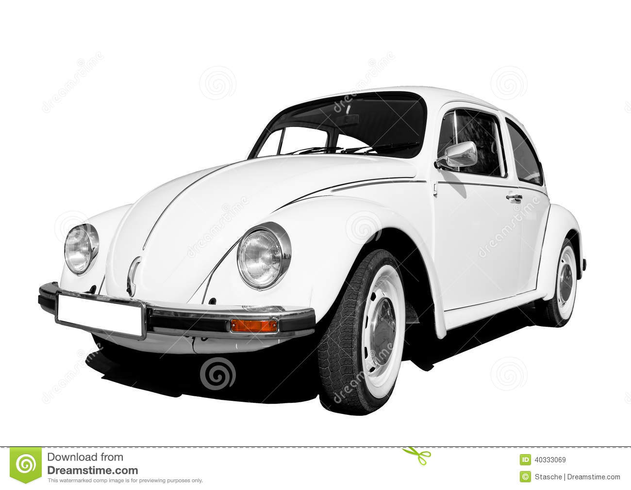 Vintage Car Volkswagen Beetle Stock Photo Image
