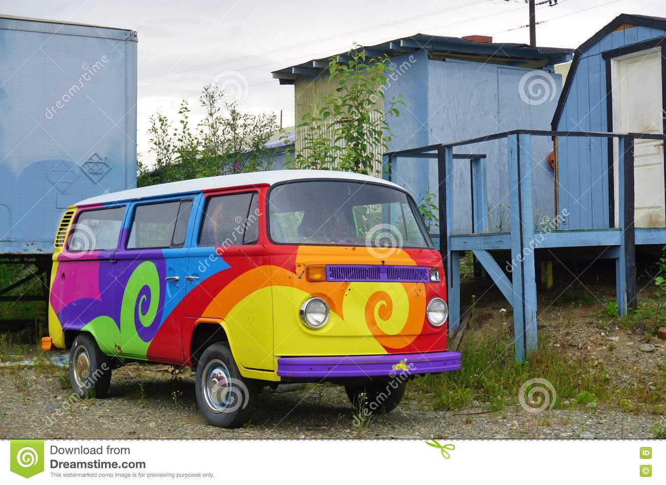 Vw Camper Van Editorial Image Cartoondealer Com 75813802