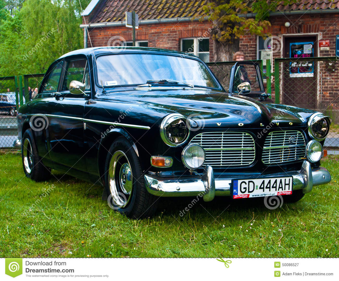 Vintage Volvo Amazon During Old Cars Race Editorial