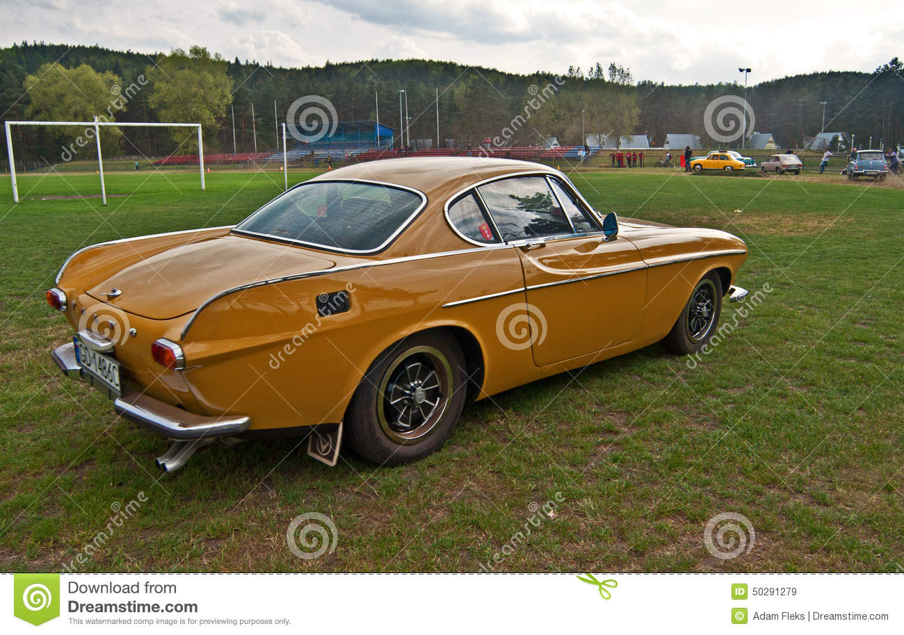 Vintage Volvo P1800 E During Old Cars Race Editorial Stock