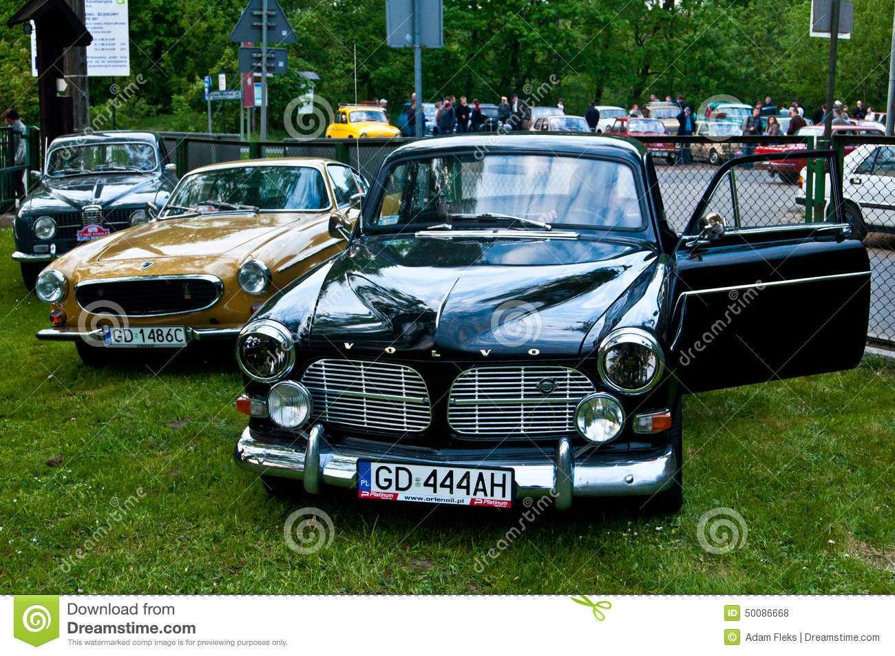 Vintage Volvo Amazon And Other Classic Cars Editorial Stock Photo
