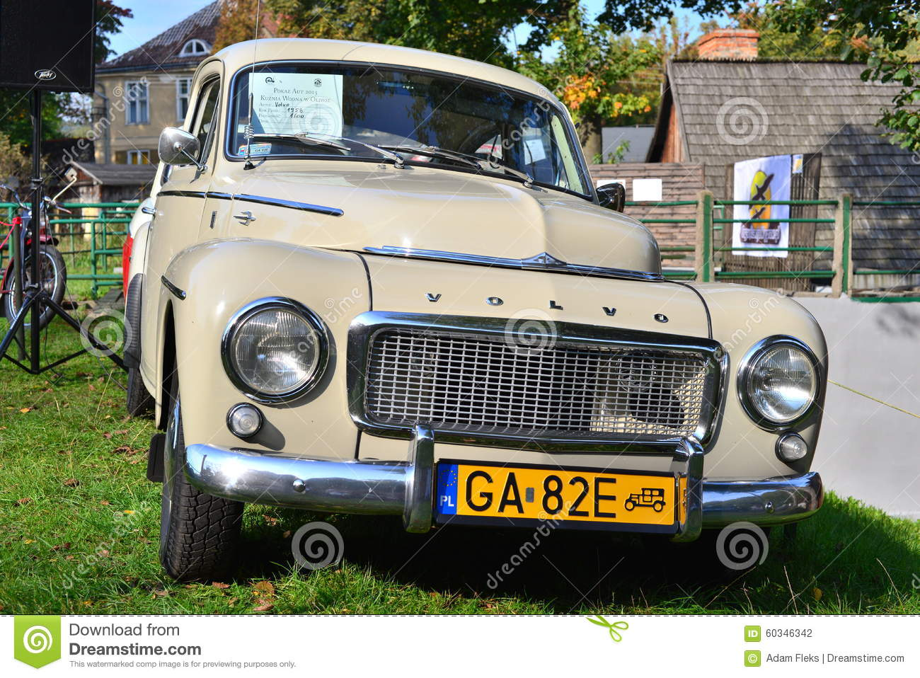 Classic Swedish Car Volvo P544 Car Parked Editorial Photography ...