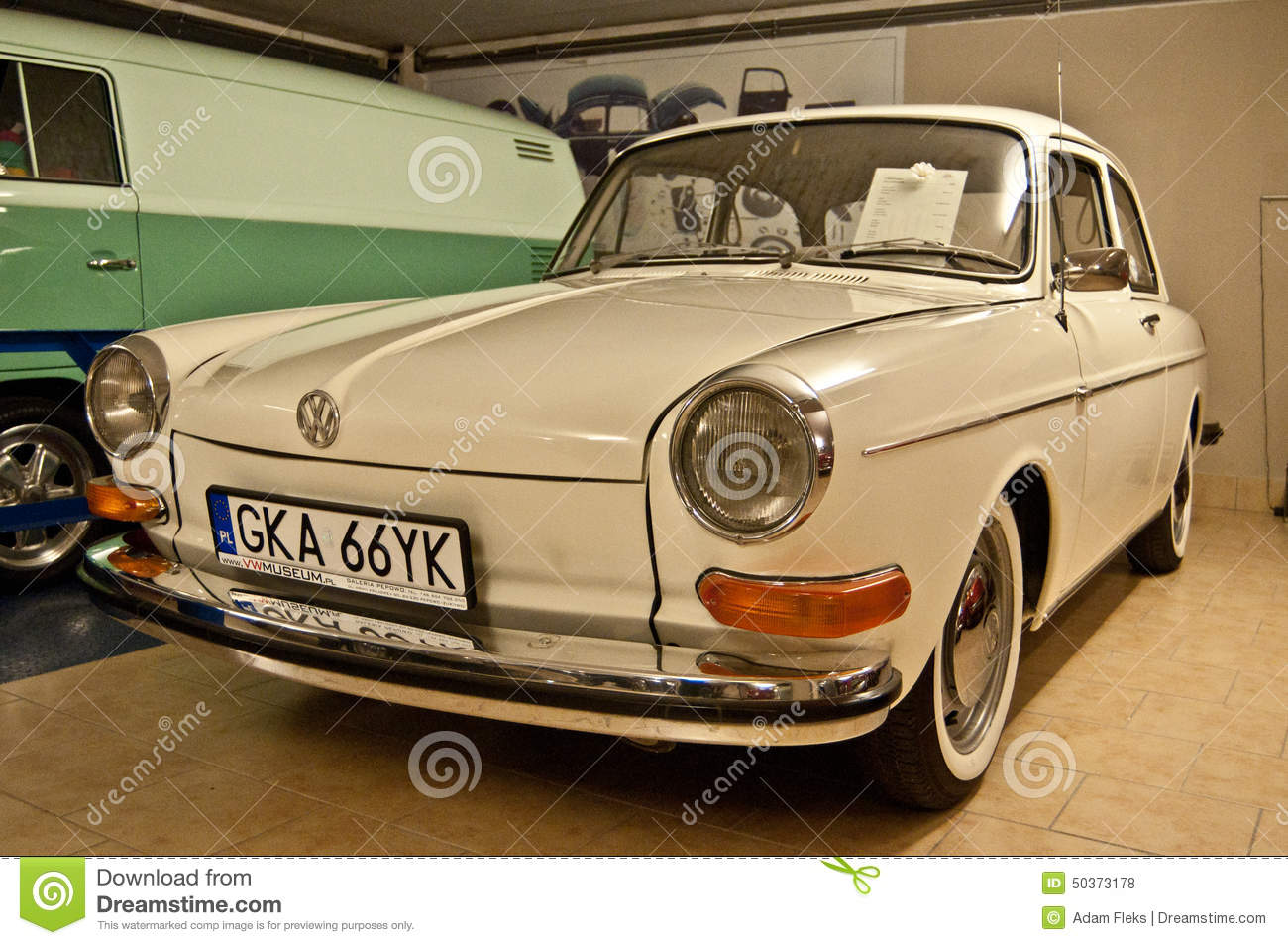 Vintage Vw Car In A Car Museum Editorial Stock Photo Image Of