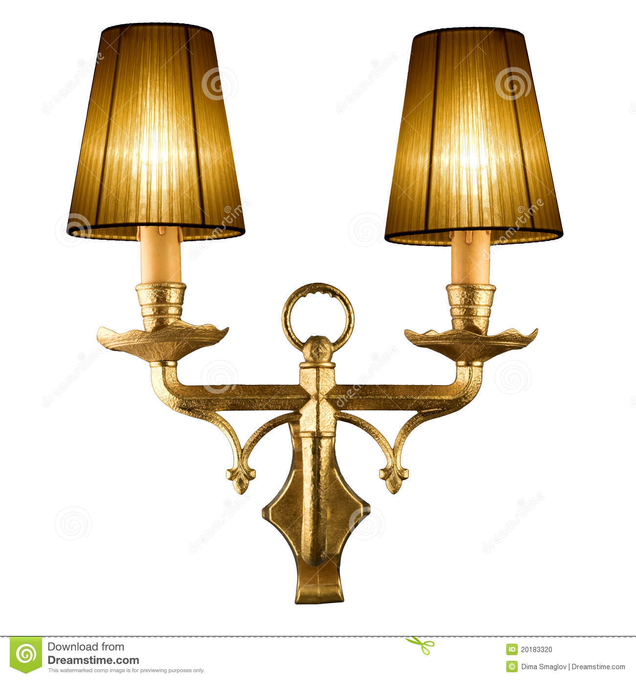 Vintage Wall Lamp Stock Photo - Image: 20183320