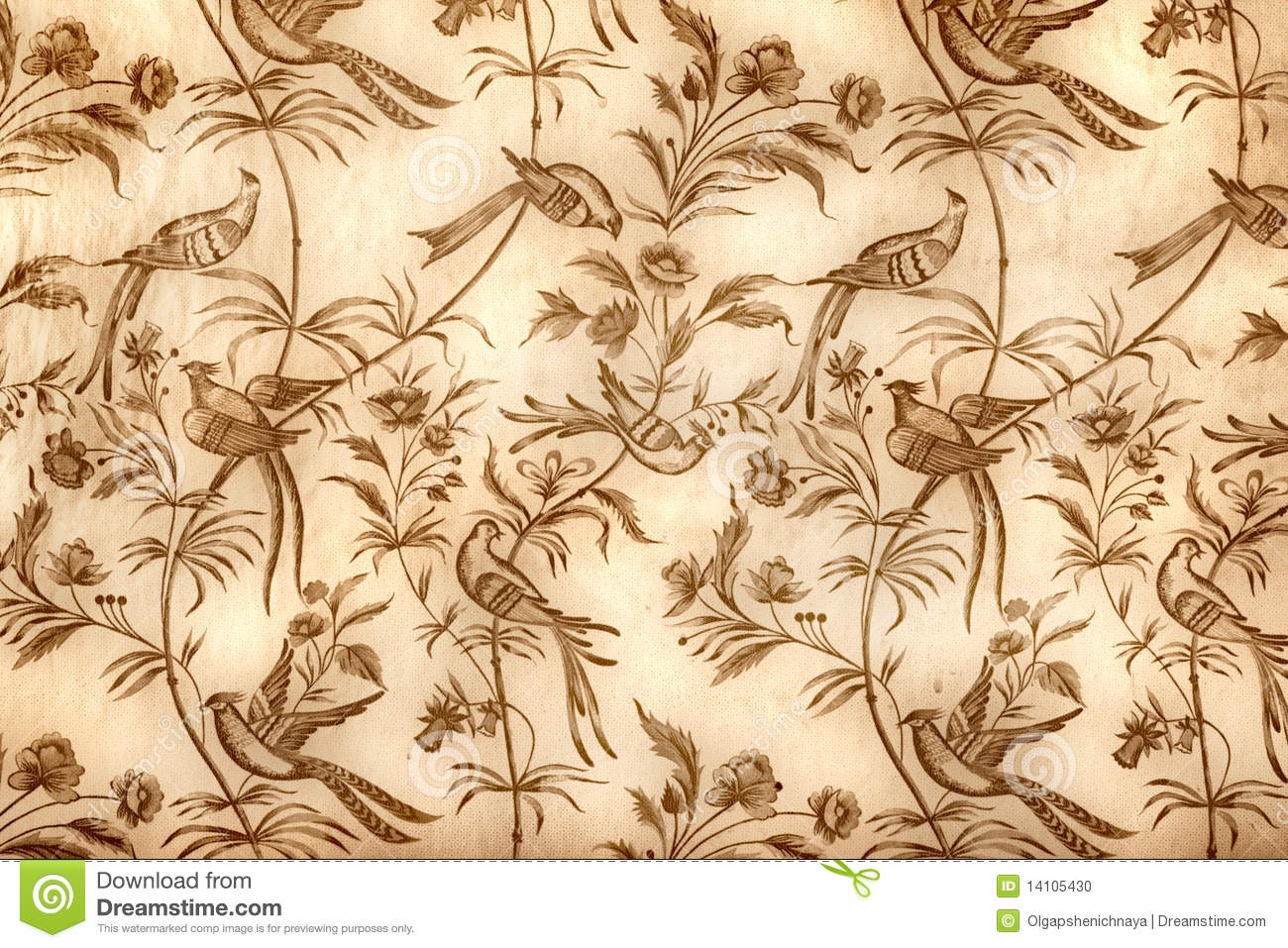 Vintage Wallpaper Stock Photo Image 14105430