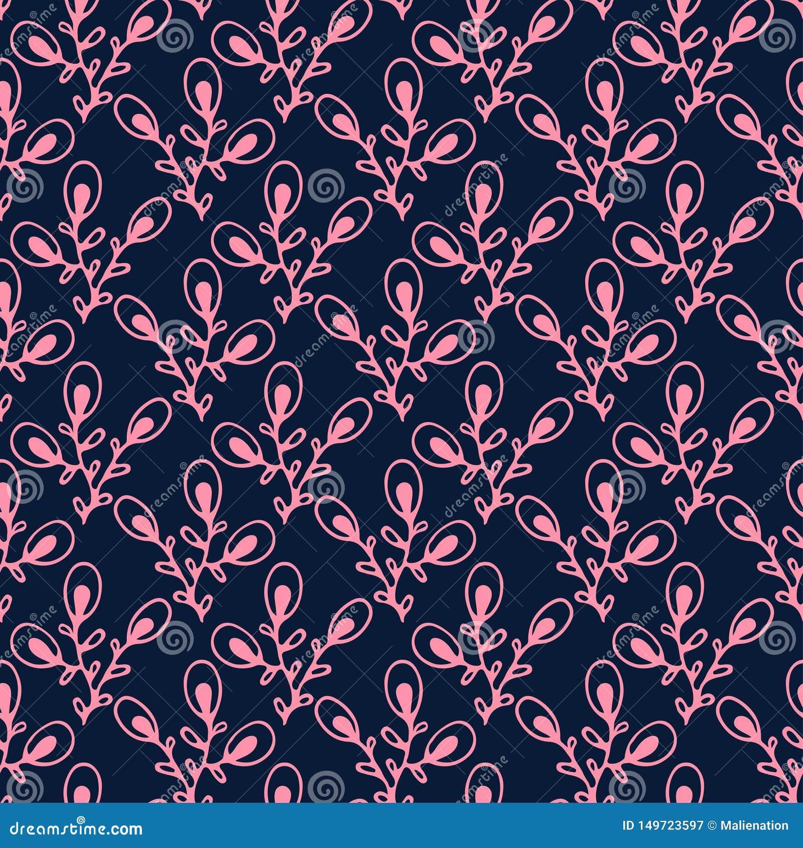 Vintage Wallpaper Background Floral Seamless Pattern Minimalist