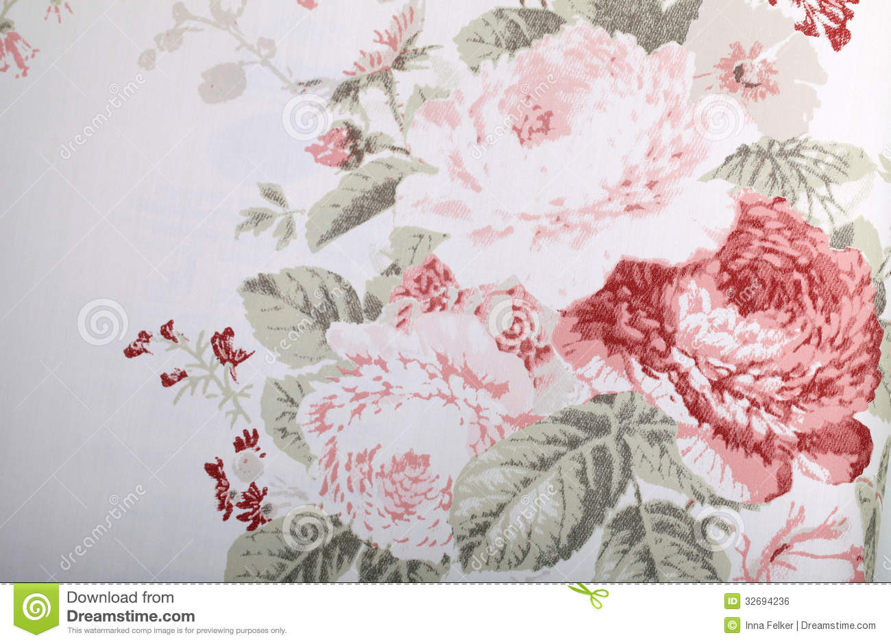Vintage Wallpaper With Floral Pattern Stock Photo Image Of Image