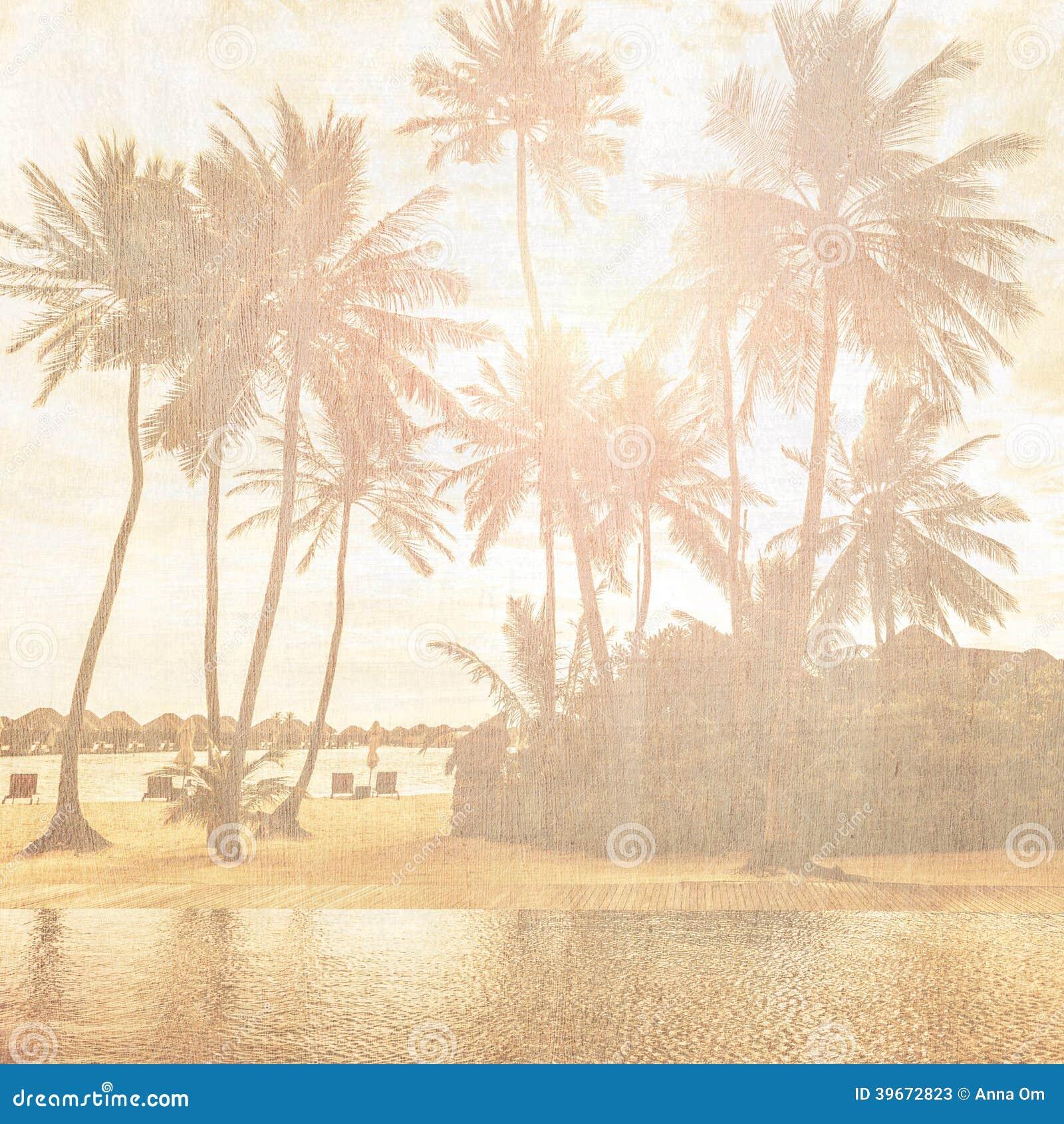 Vintage Beach Background Stock Photo 112981333: Vintage Wallpaper Stock Image. Image Of Holiday, Coastline