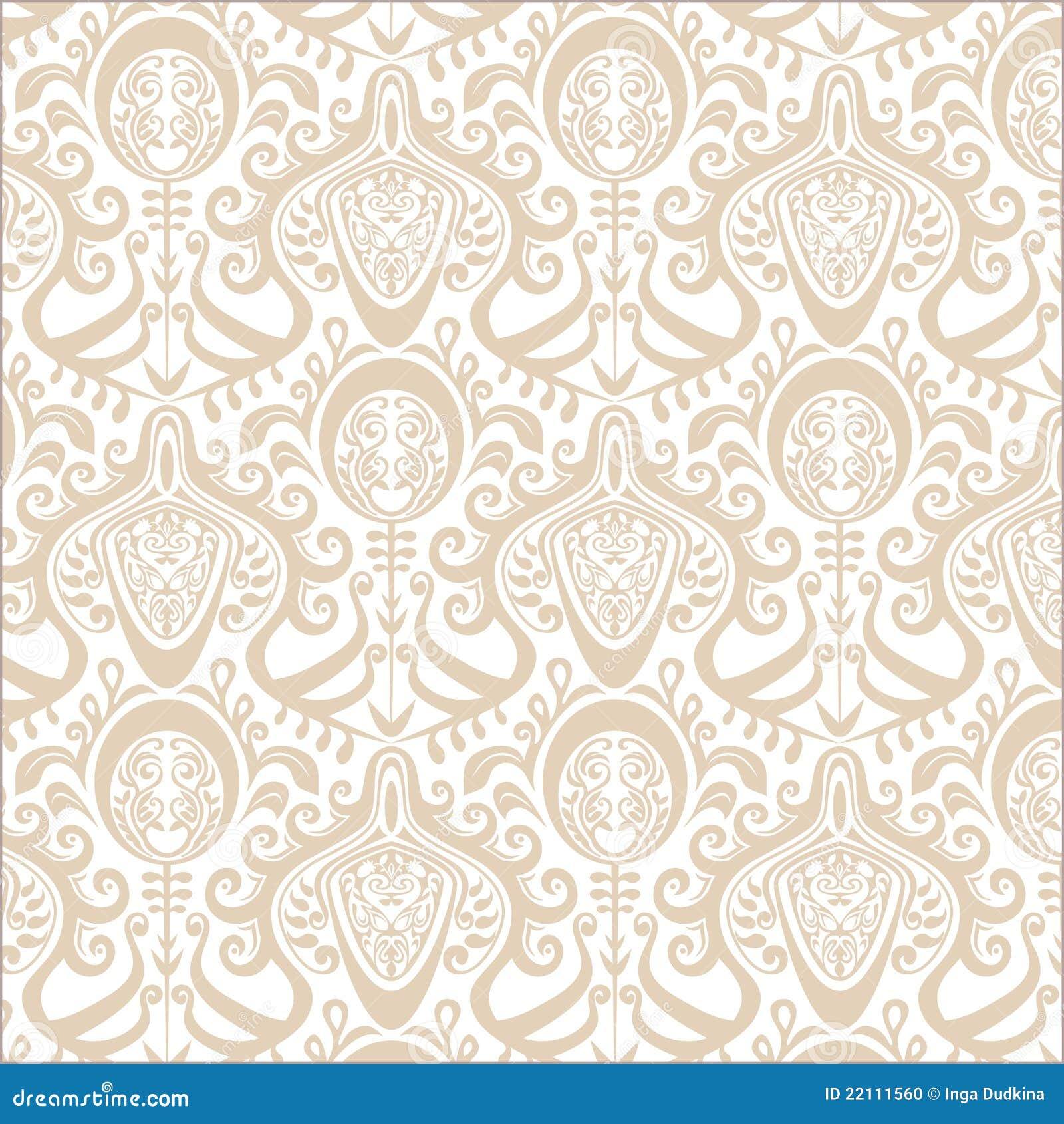 Vintage Wallpaper Pattern. Stock Photo