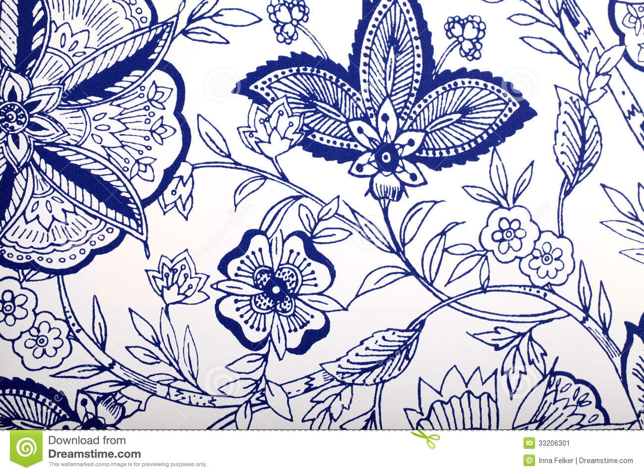 Vintage Wallpaper With Vignette Pattern Stock Photo 33206301