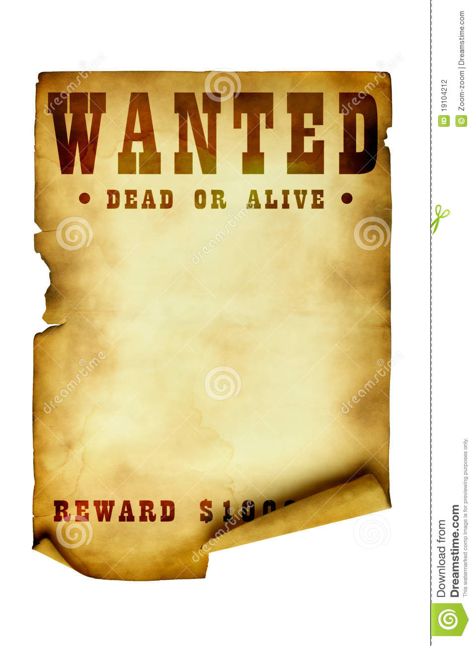 vintage wanted poster stock photo  image of history  blank