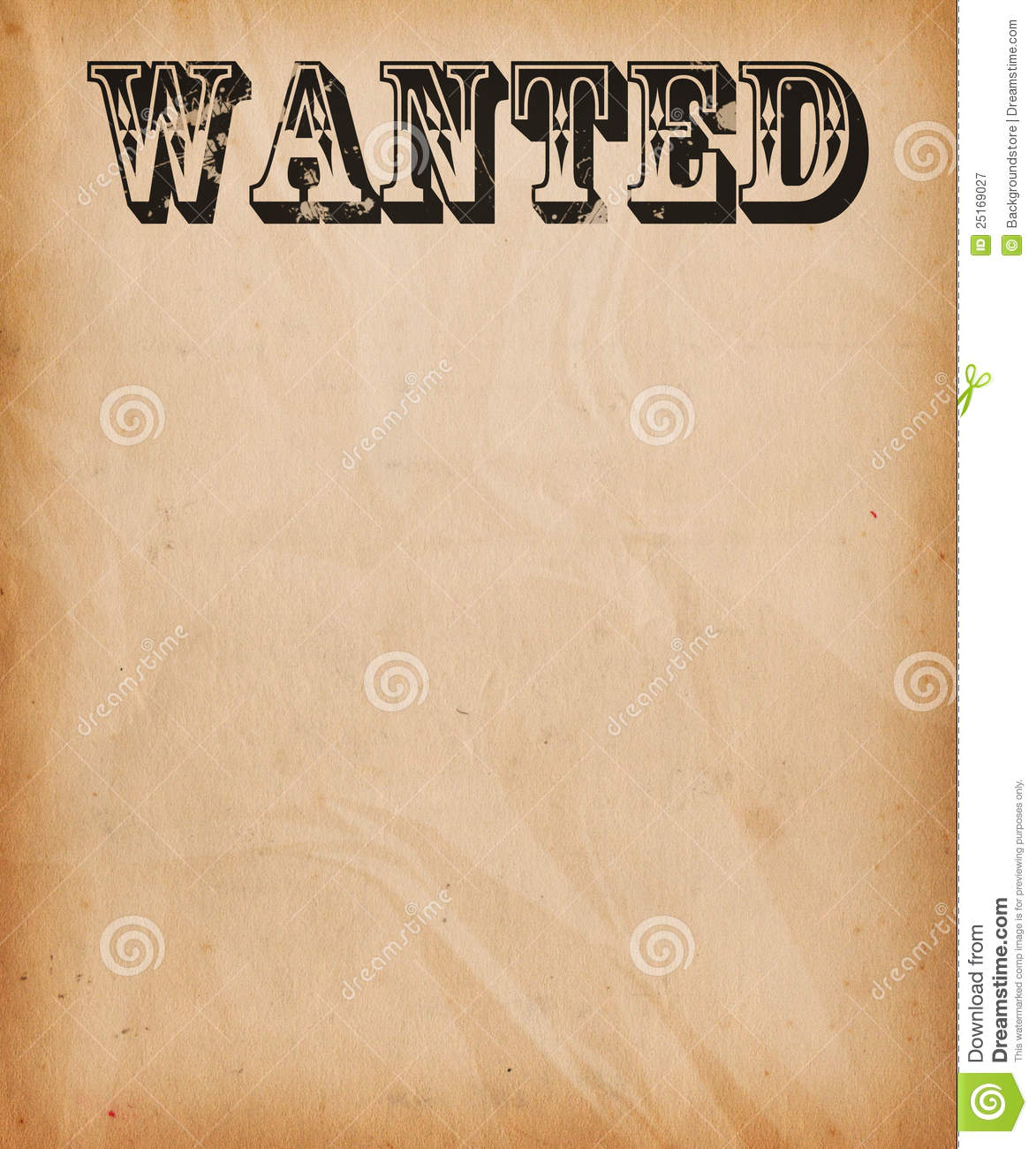 Vintage Wanted Poster Background Royalty Free Stock ...