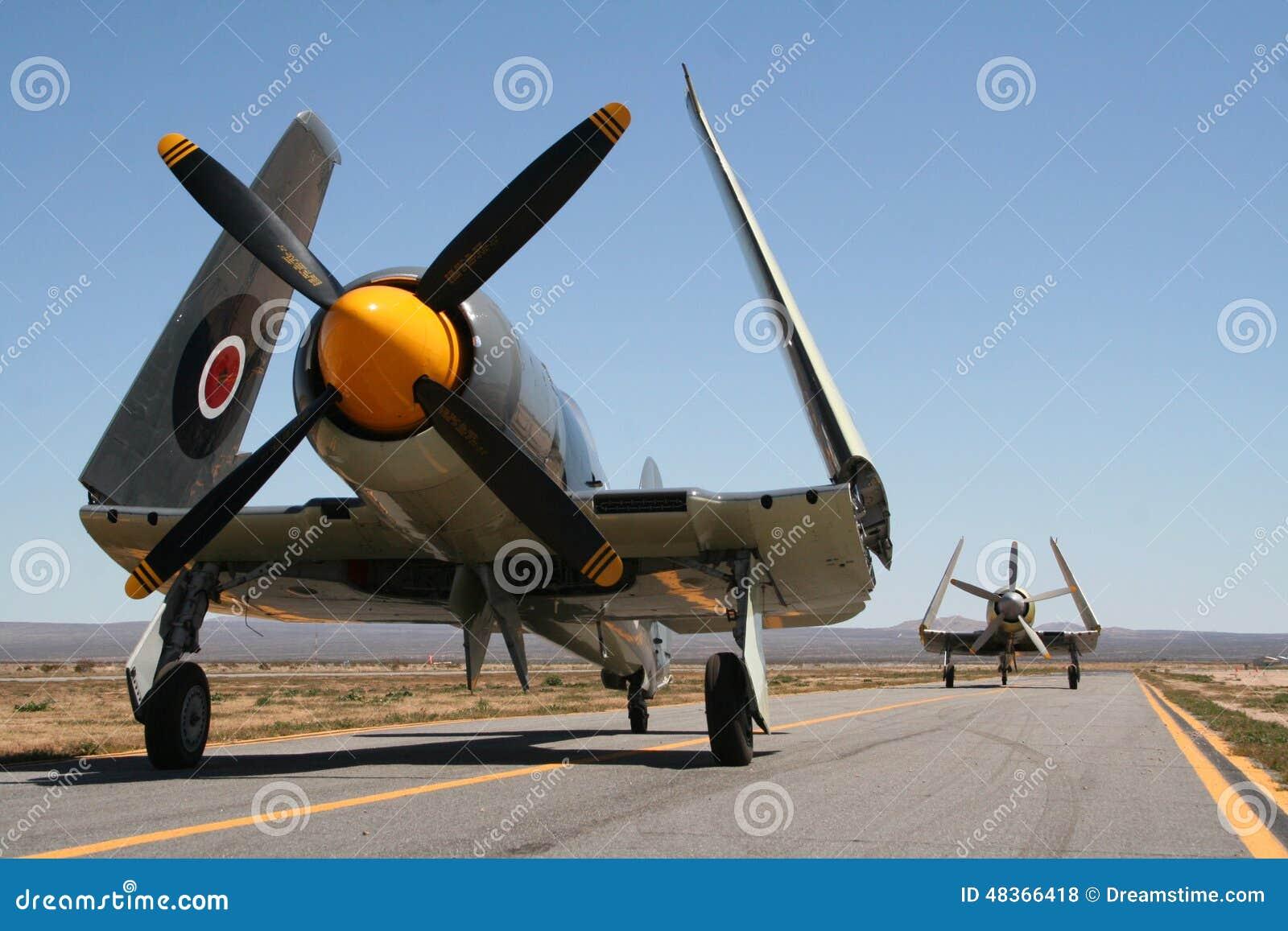 Vintage war planes
