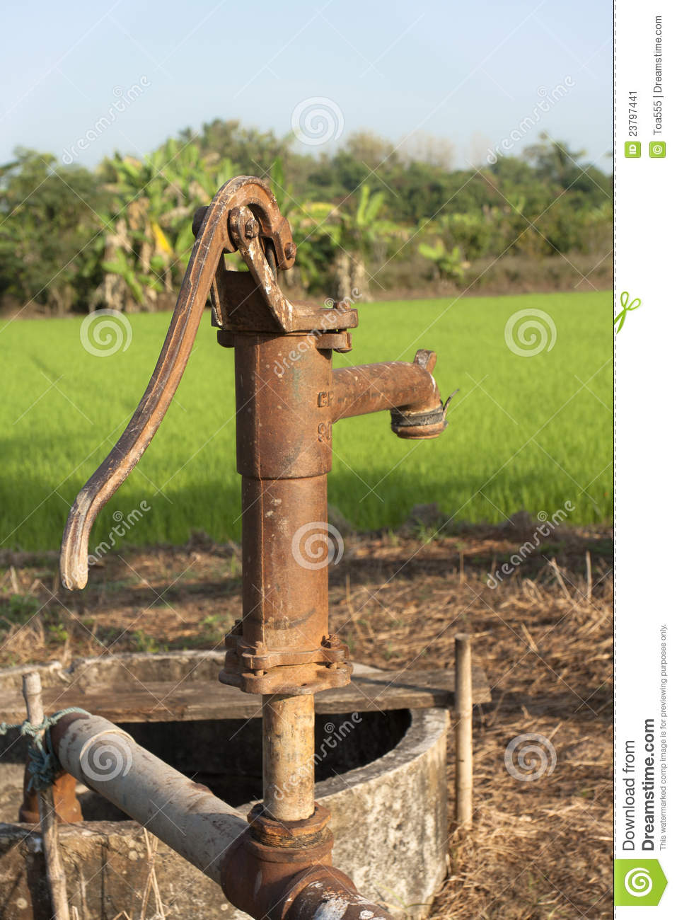 Vintage water pump stock image. Image of country, horse - 23797441