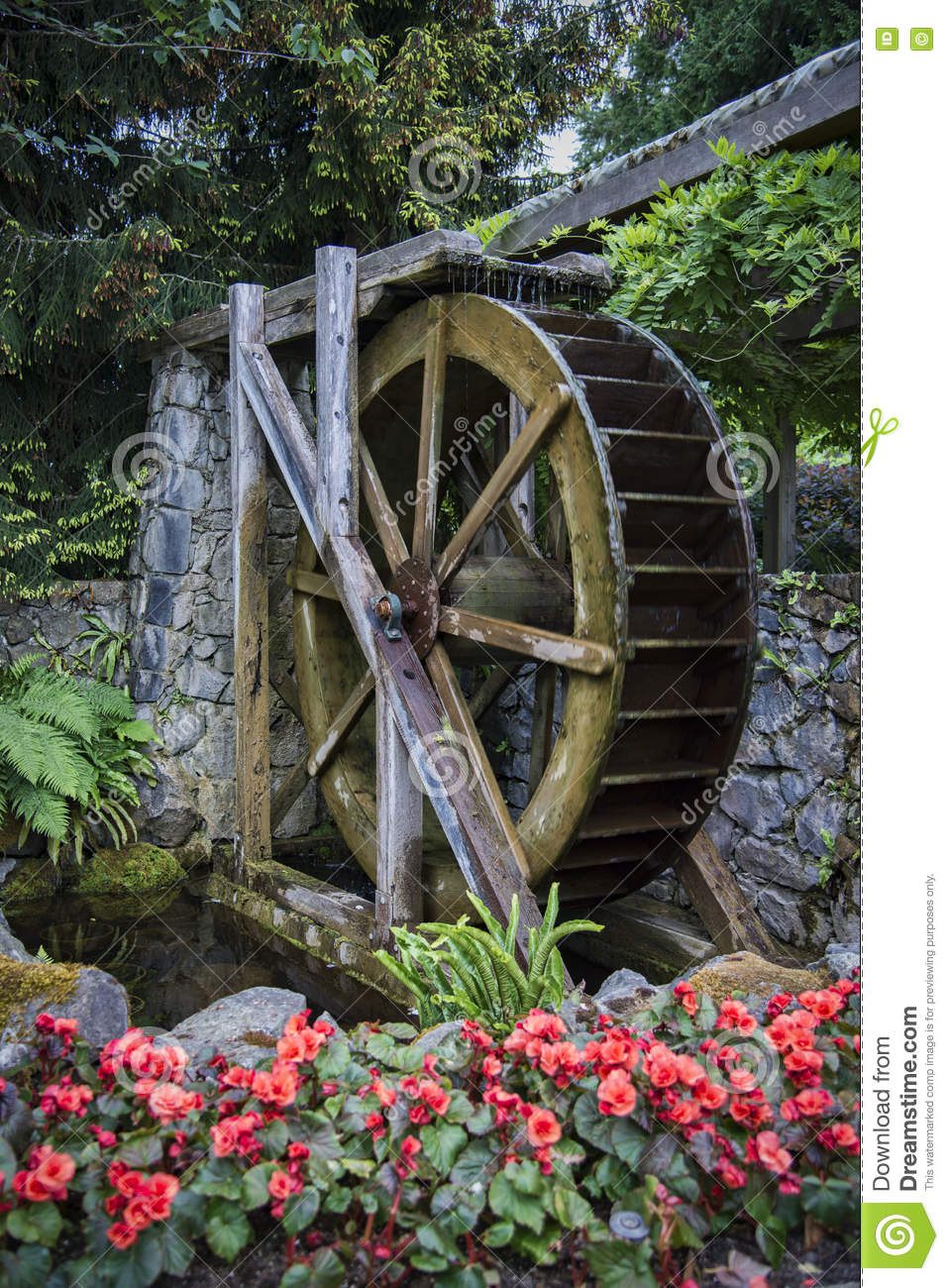 Royalty Free Stock Photo. Download Vintage Water Wheel ...