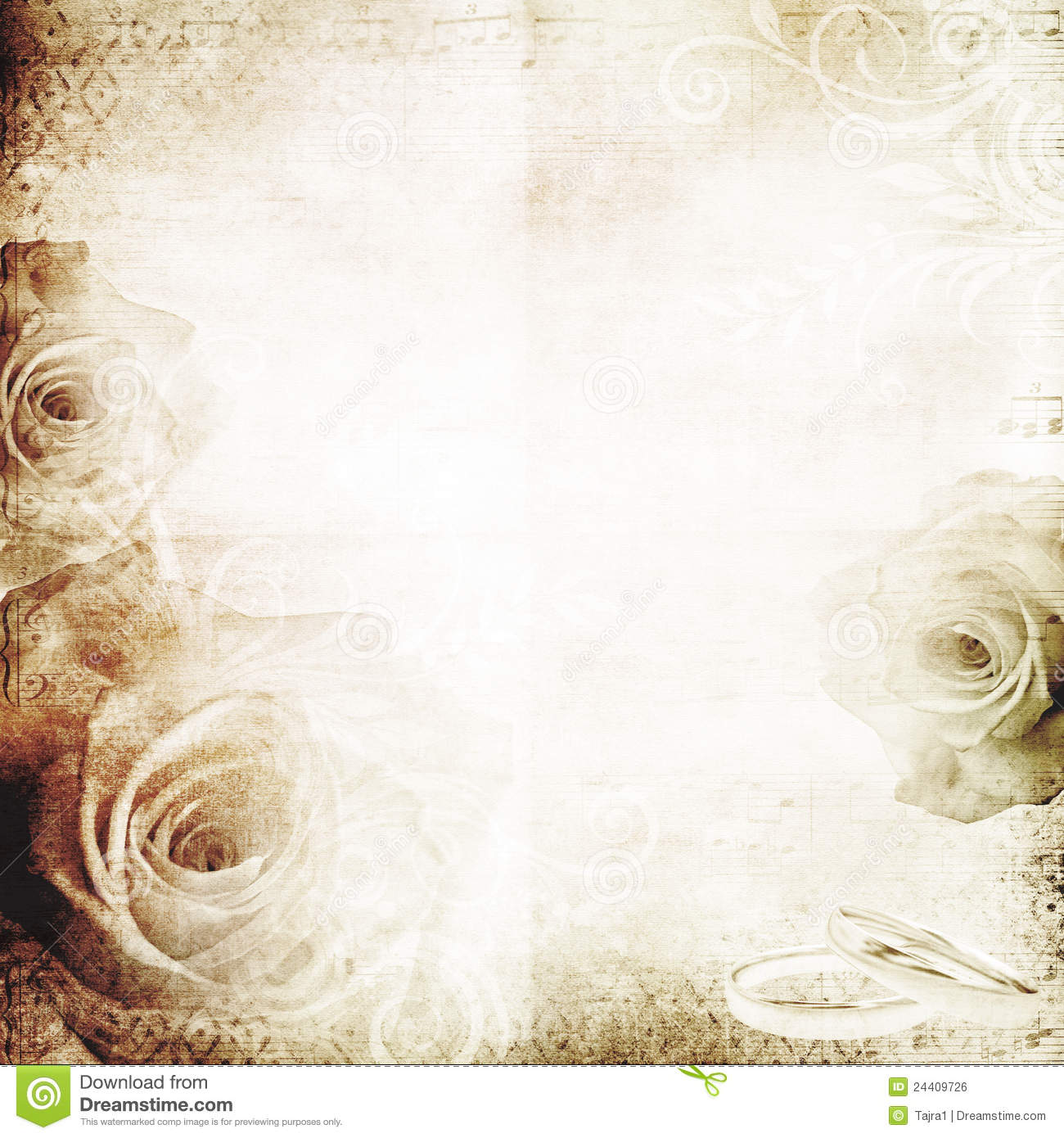Vintage Wedding Background Royalty Free Stock Image