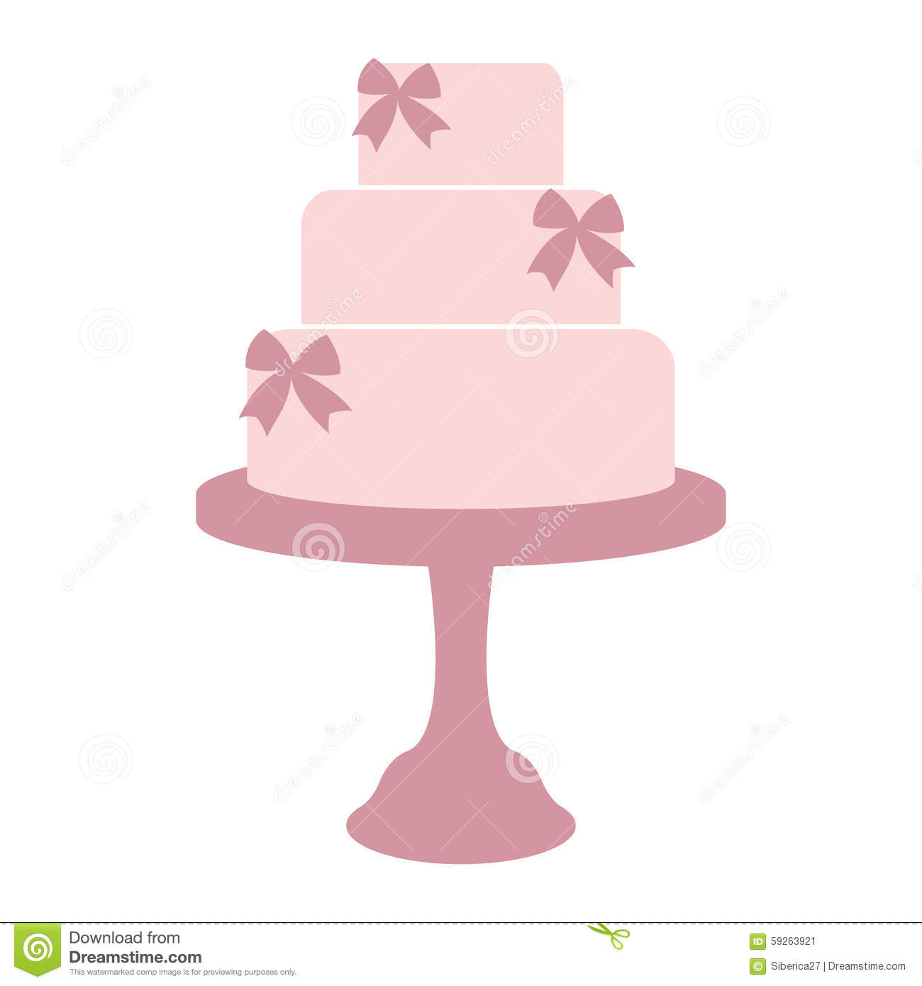 Template For Cake Design : Vintage Wedding Cake. Stock Vector - Image: 59263921
