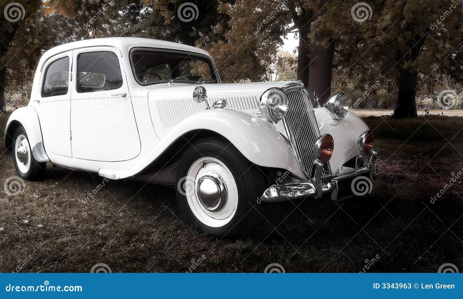 Vintage wedding car stock image. Image of autumn, retro - 3343963