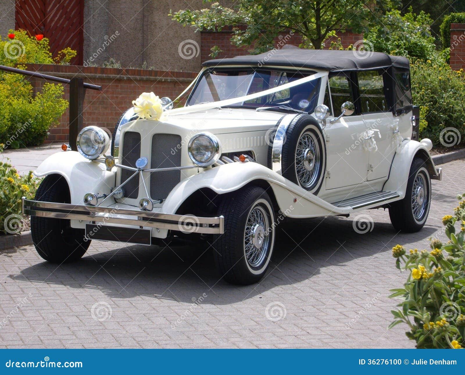 vintage wedding car stock photo image 36276100. Black Bedroom Furniture Sets. Home Design Ideas
