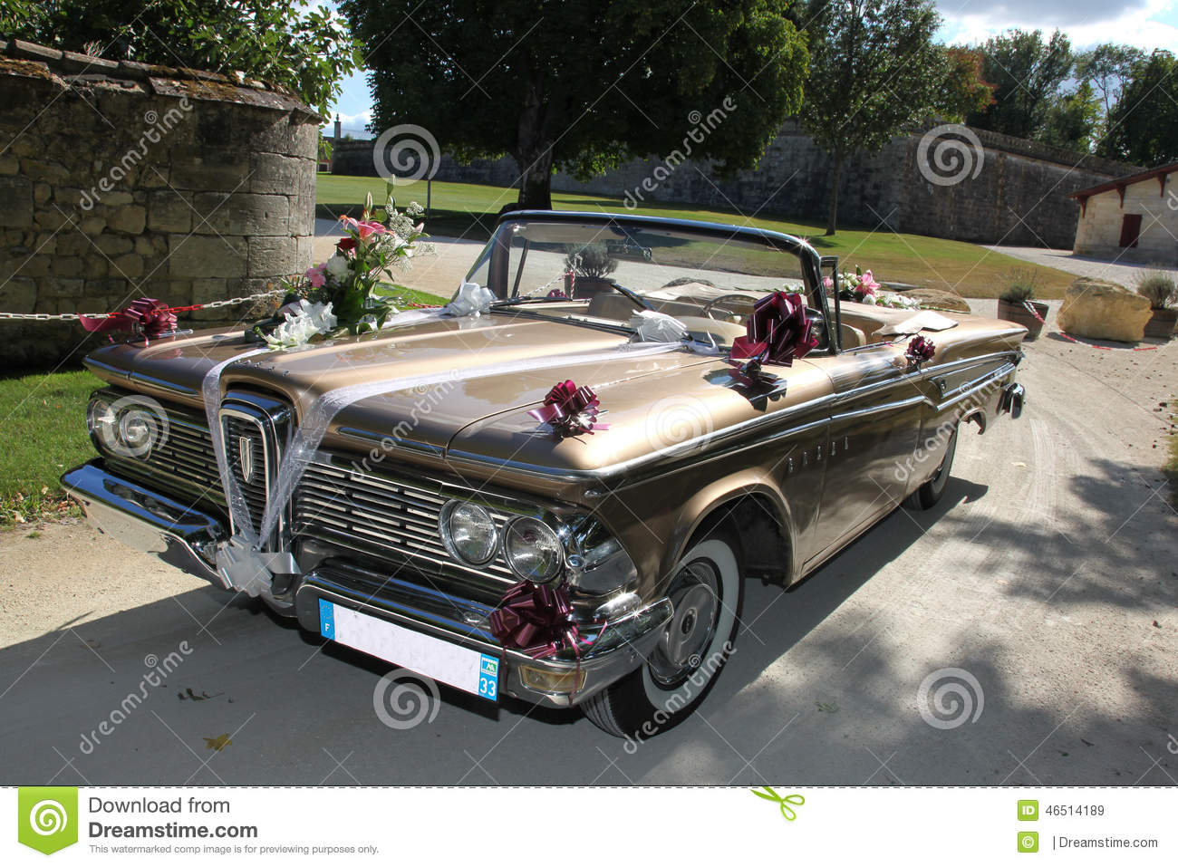 Vintage wedding cars stock image. Image of cars, detail - 46514189