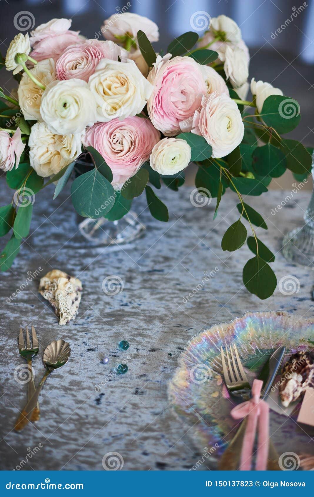 Vintage Wedding Decor. Beautiful Event Venue. Creative Decoration ...