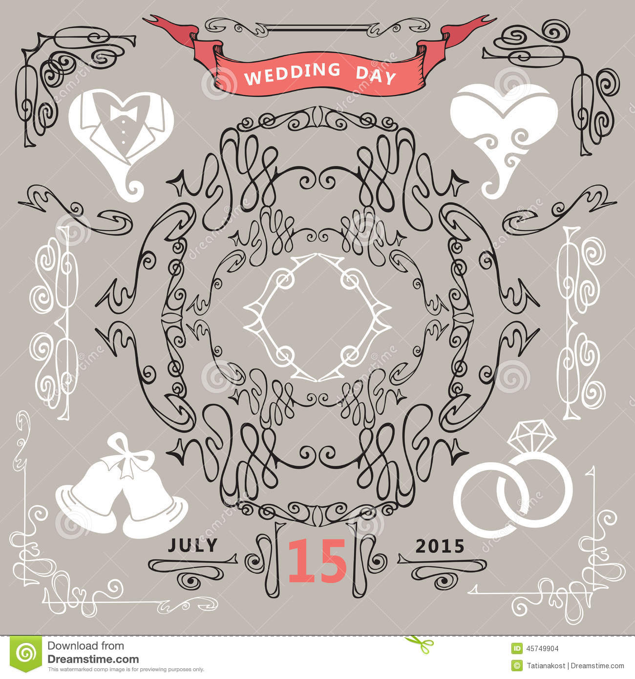 ... wedding icons.For Wedding invitation,postcard,save the date card