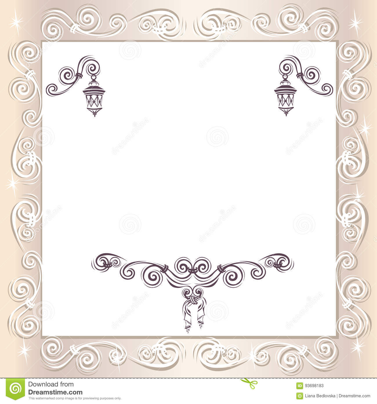 Vintage wedding frame stock vector illustration of decorative download vintage wedding frame stock vector illustration of decorative 93698183 junglespirit Images