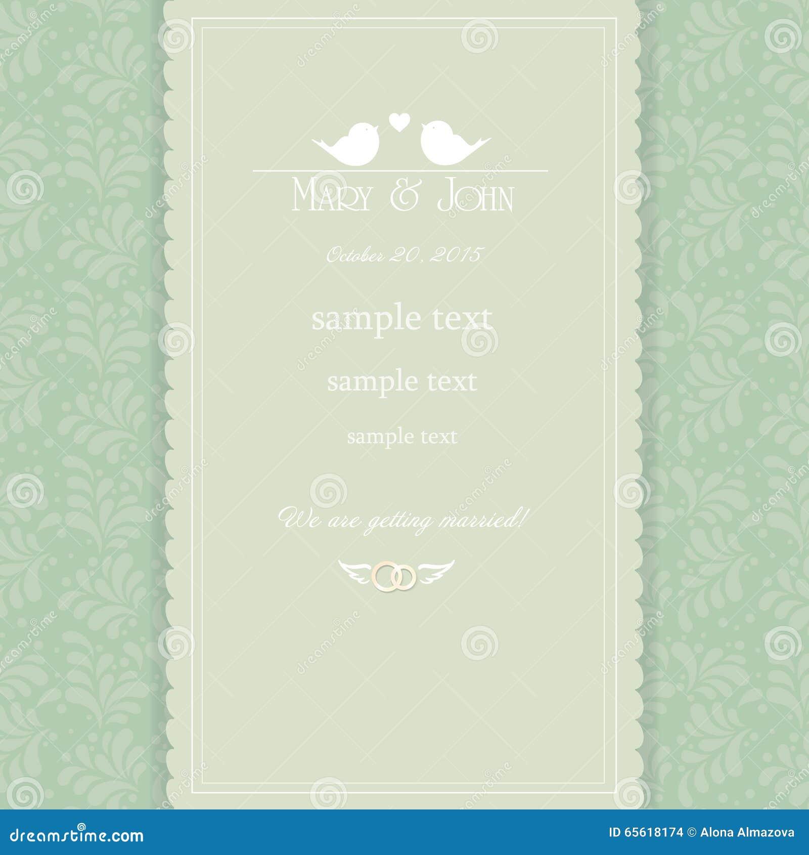 Vintage wedding invitation card stock vector illustration of download vintage wedding invitation card stock vector illustration of english detailed 65618174 stopboris Image collections