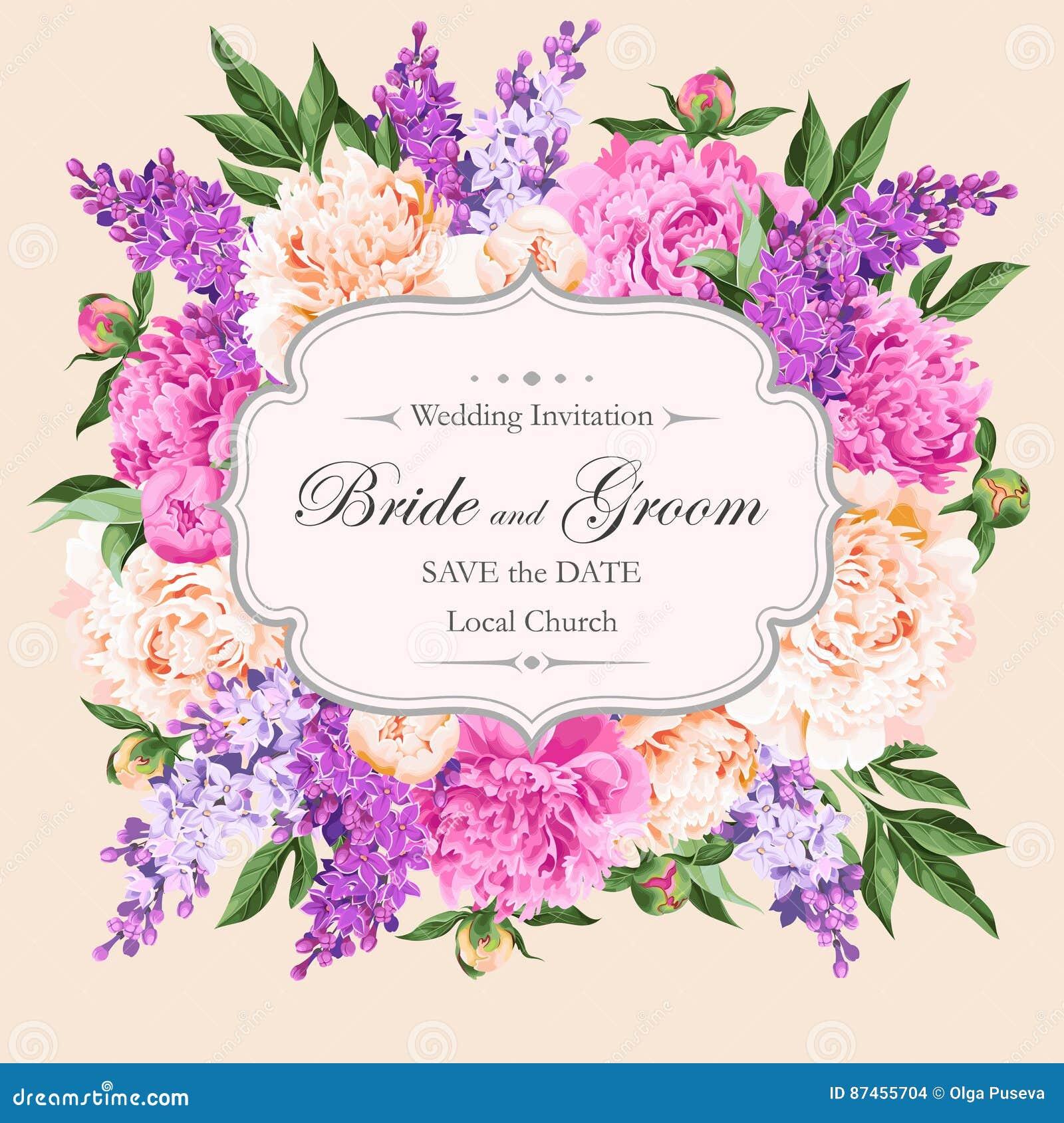 Vintage wedding invitation stock vector. Illustration of decorative ...