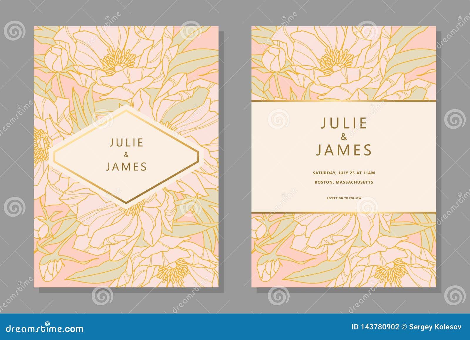 Vintage Wedding Invitation set
