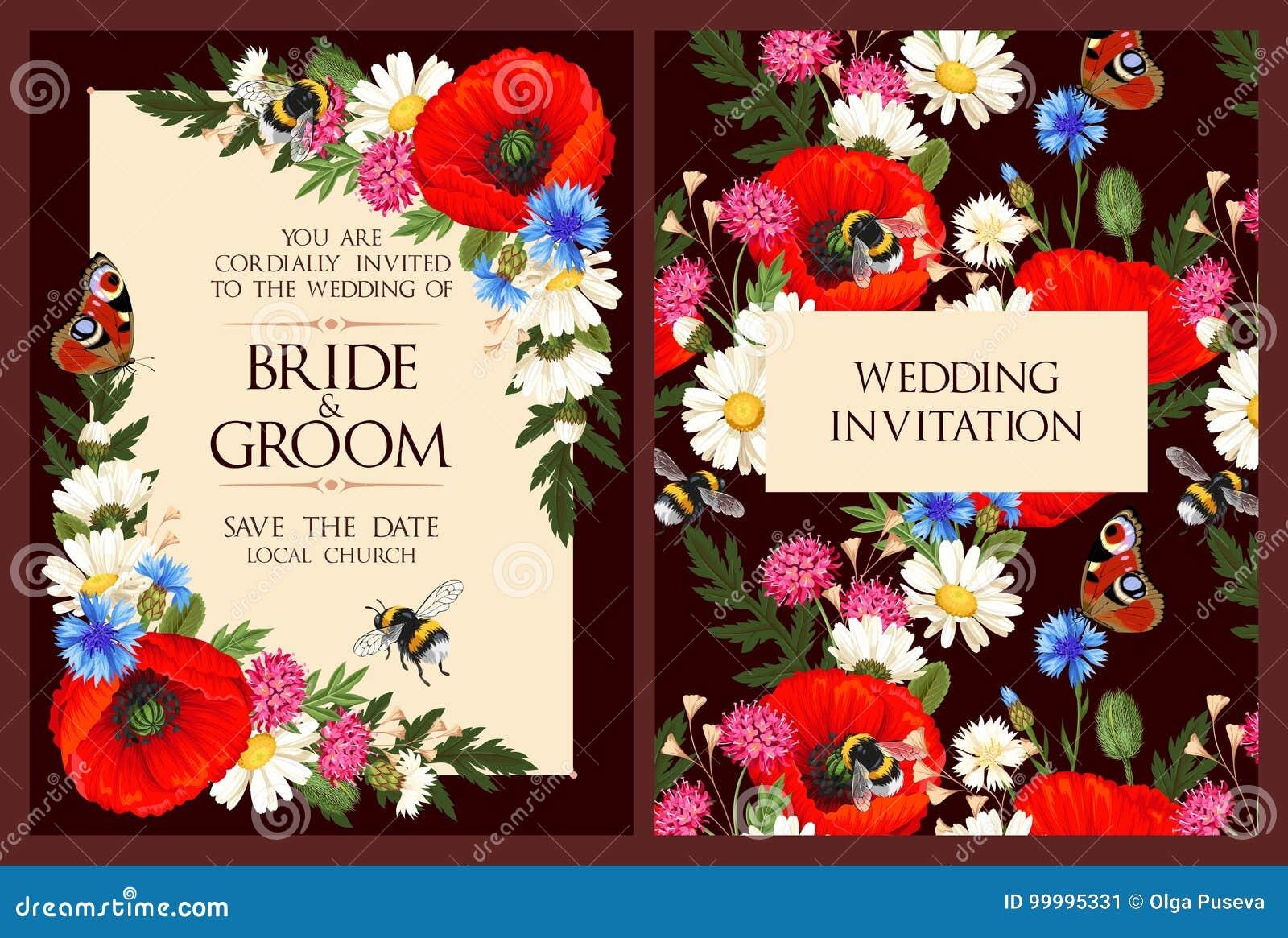 Vintage wedding invitation stock vector. Illustration of shabbychic ...