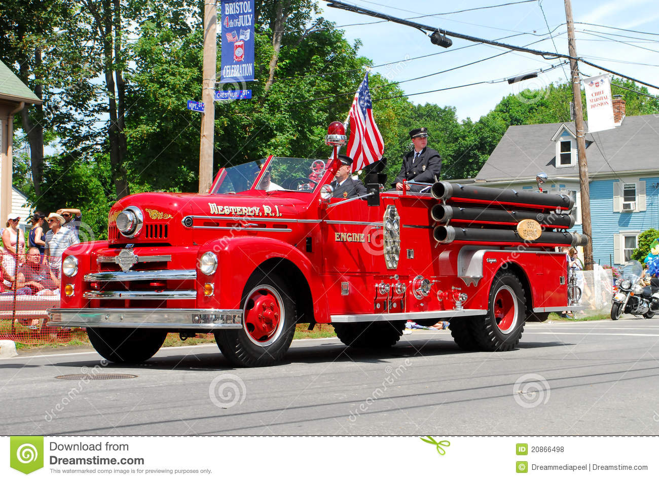 Vintage Westerly, RI Firetruck