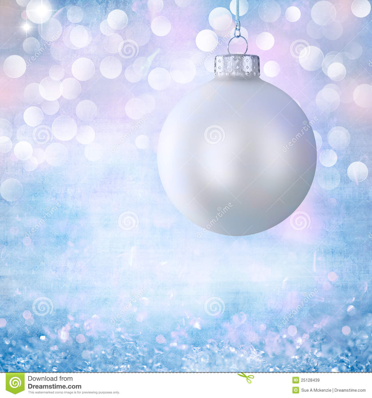 Vintage White Christmas Ball Ornament Over Grunge Royalty Free ...
