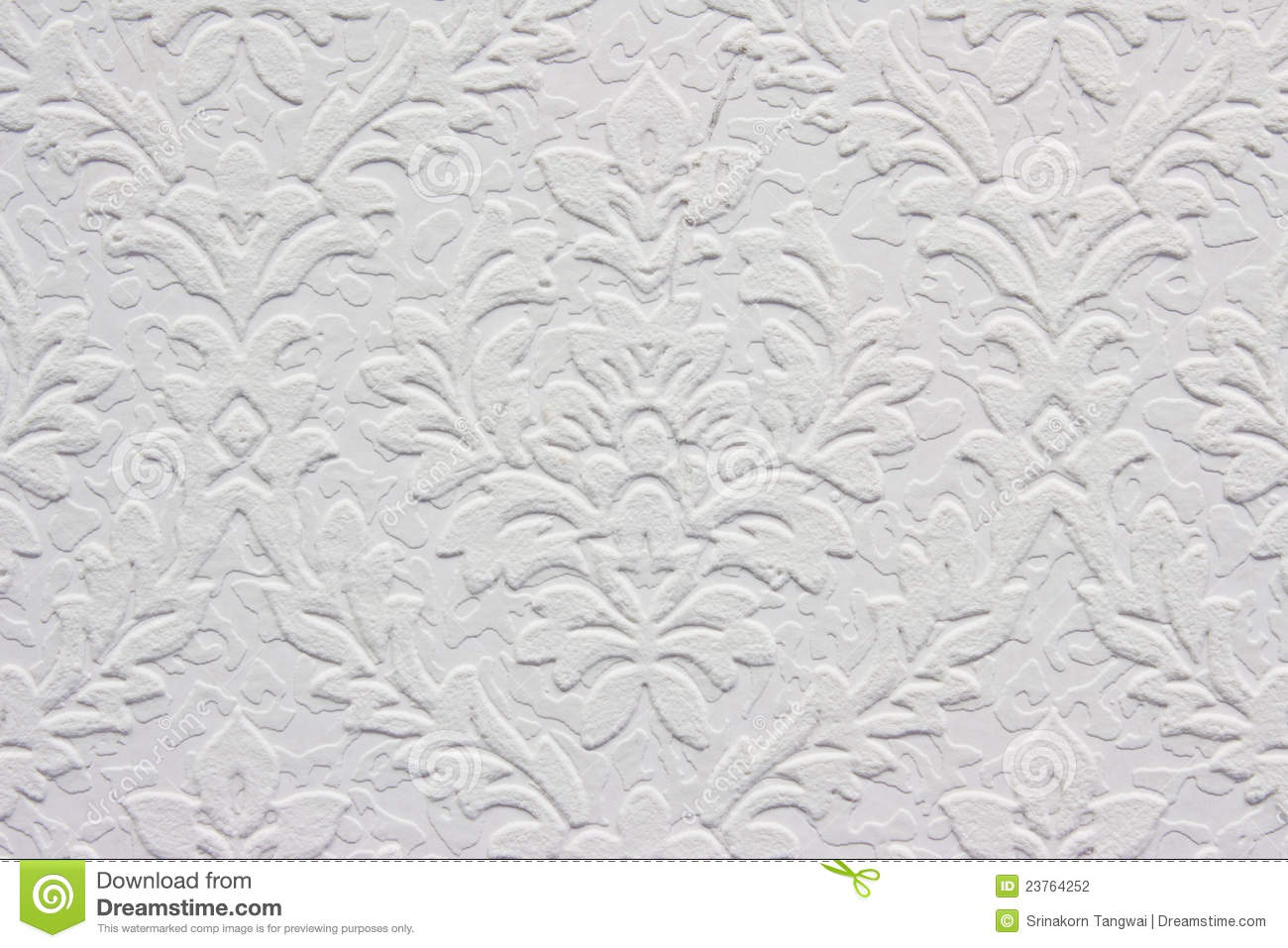 Vintage White Floral Pattern, Wallpaper Stock Photography - Image ...