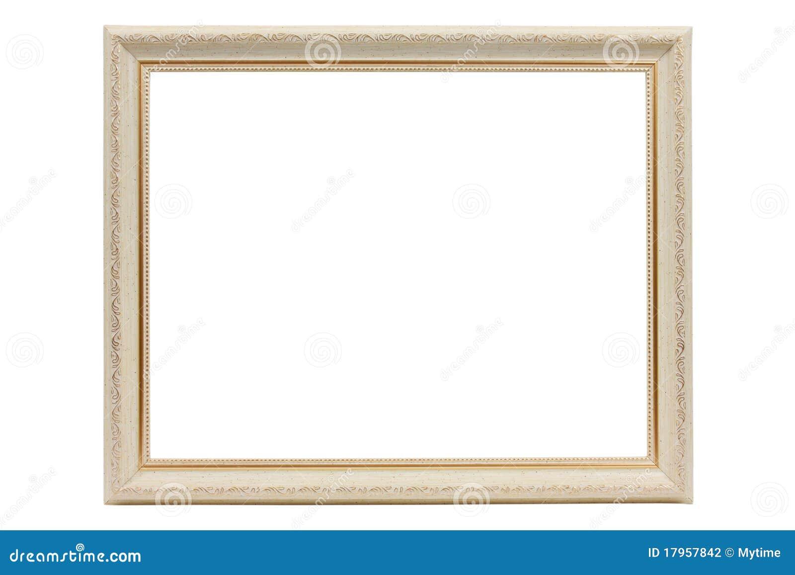 Vintage White Frame : Vintage white frame on white background.