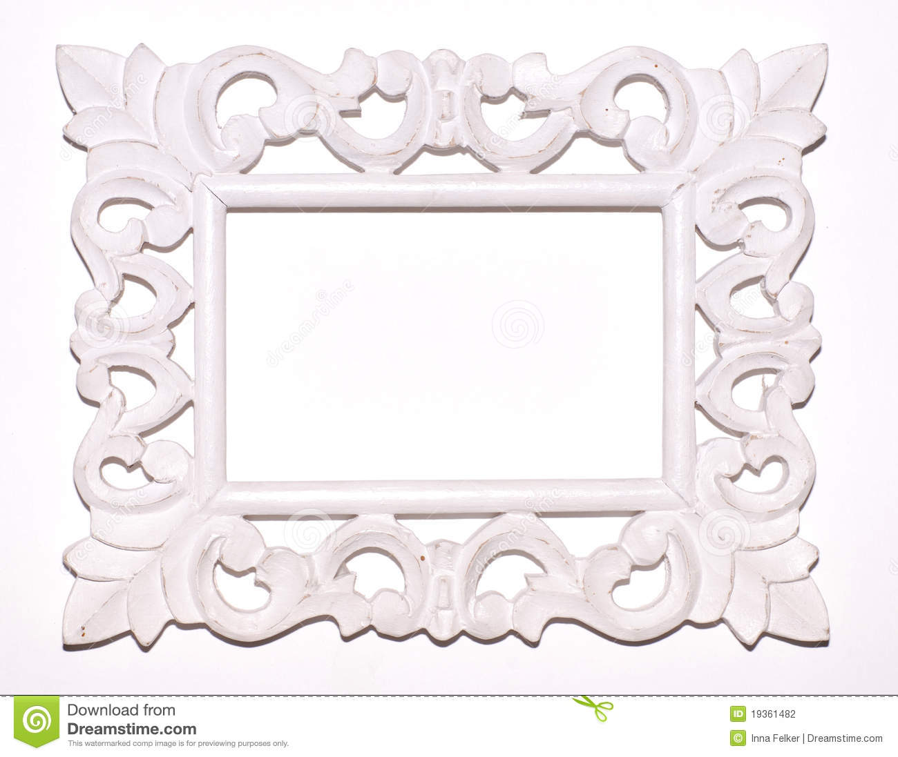 Vintage White Picture Frame Stock Photo - Image of classical ...