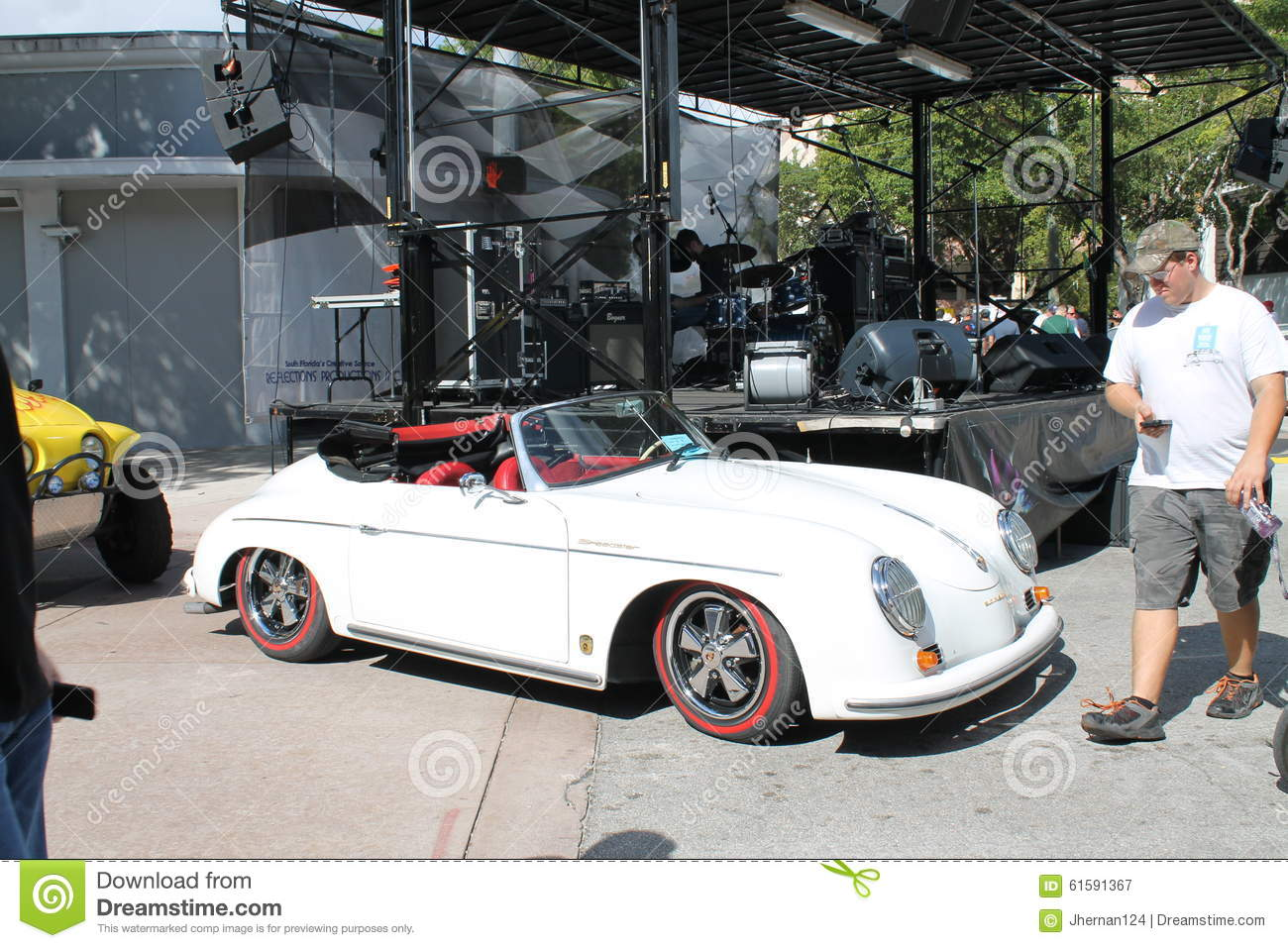 Vintage White Porsche Convertible Editorial Photography Image Of