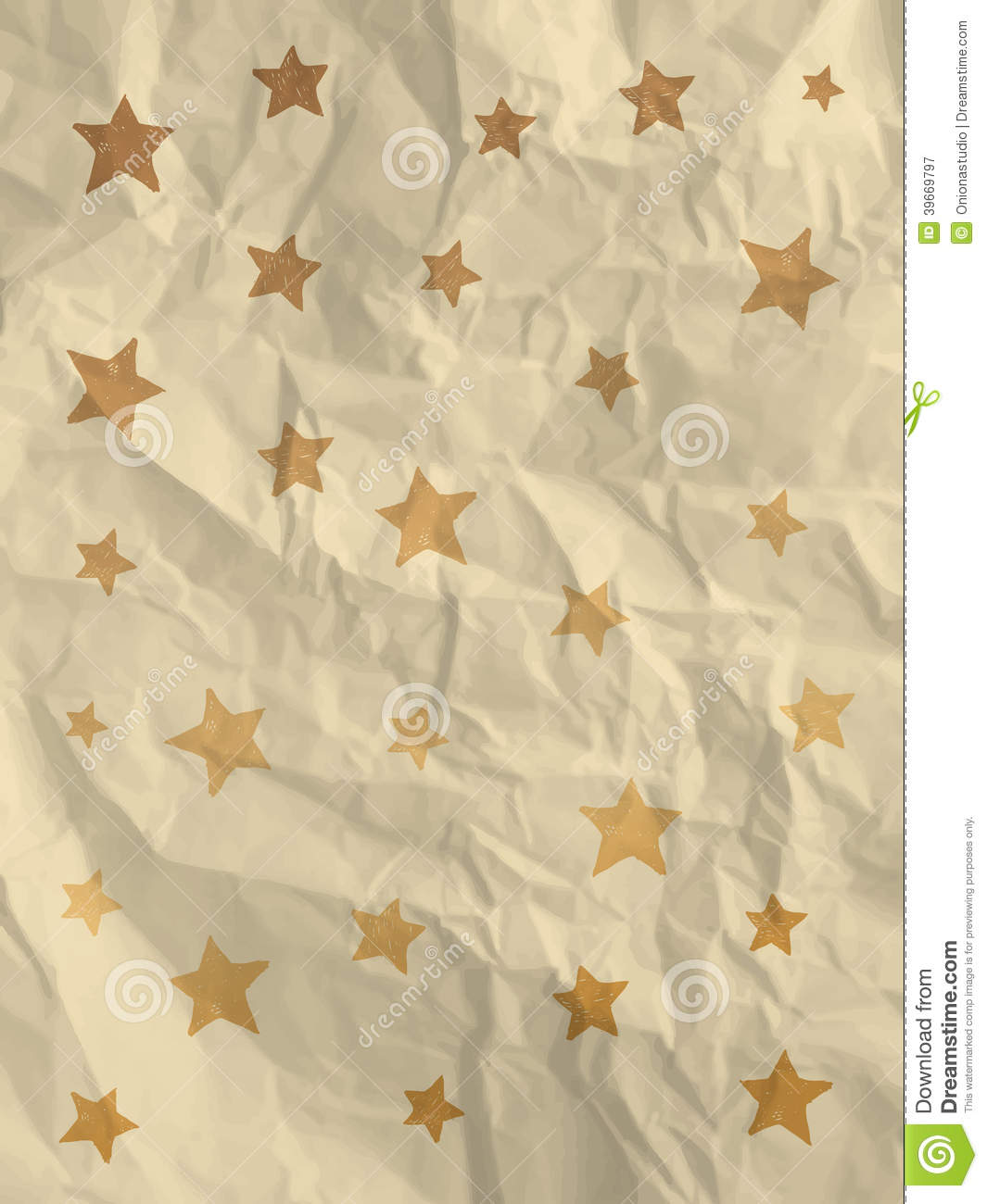 Vintage white wrapping paper with stars