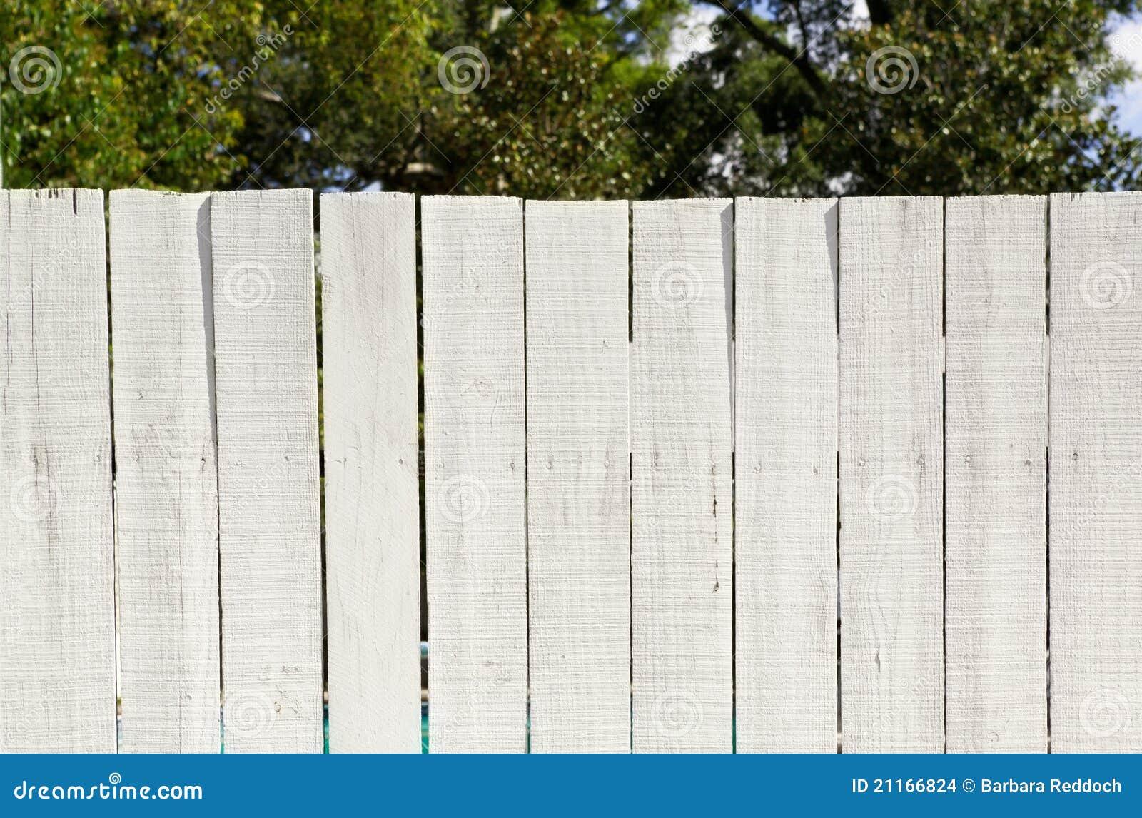 Vintage Whitewashed Board Fence Stock Photo Image Of