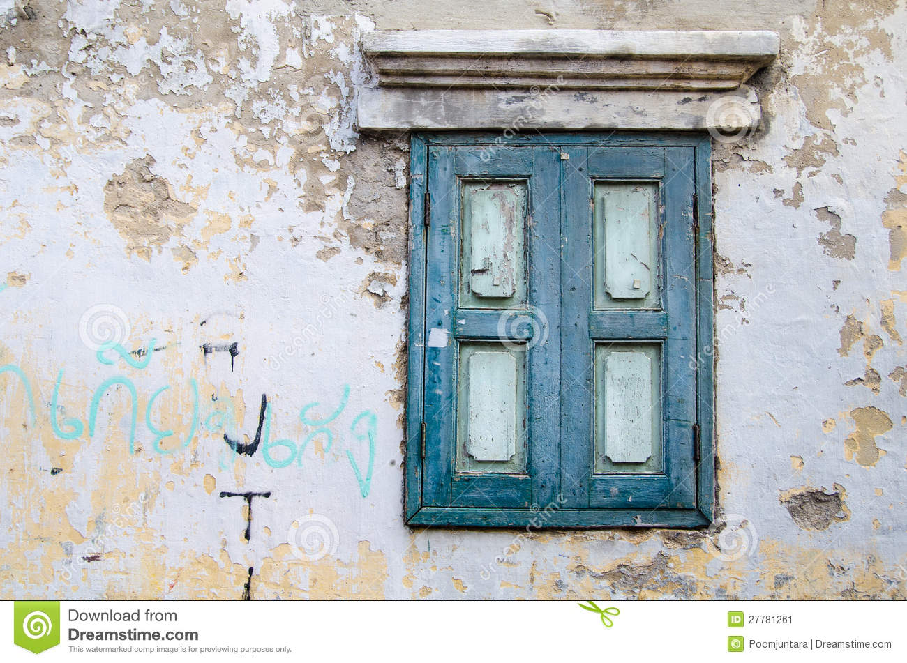 A Vintage Window Stock Photo 27781261 Megapixl