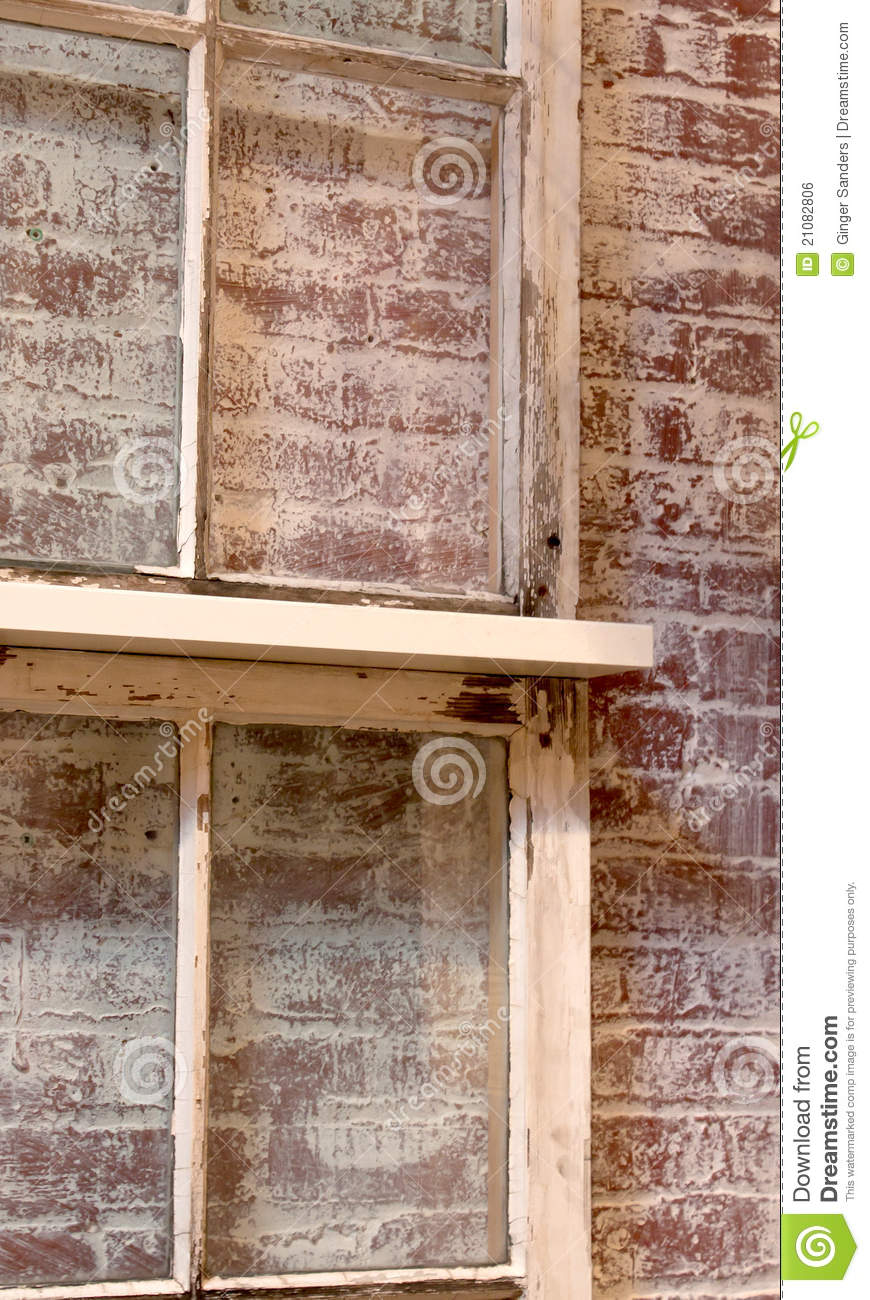 Vintage Window Brick Background Texture