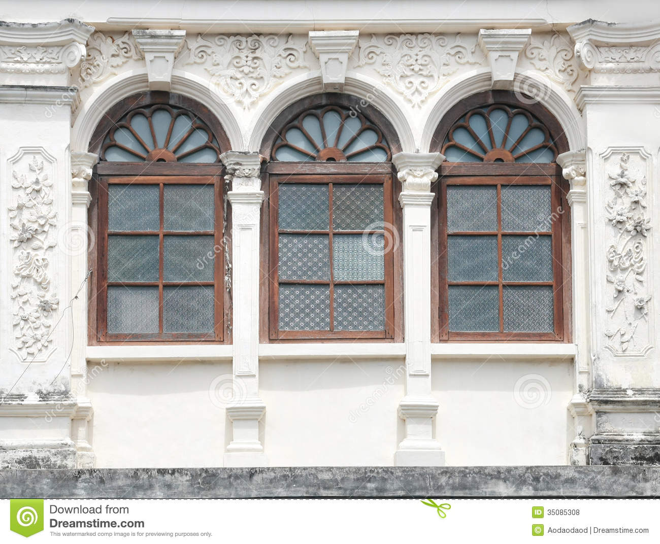 Vintage Window On Wall Stock Photo Image Of Shutter