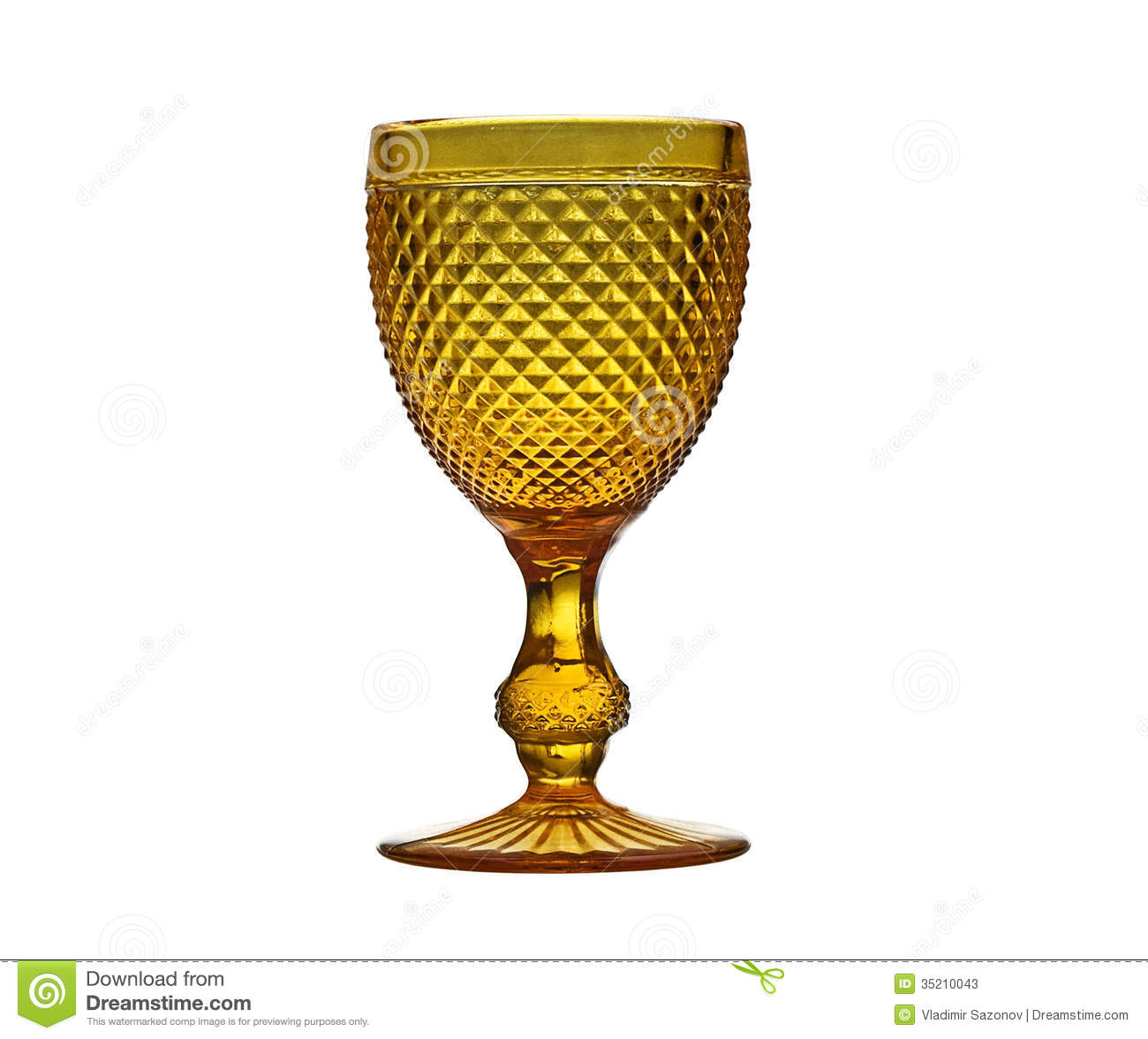 Vintage Wine Glass Isolated On A White. Stock Photos ...