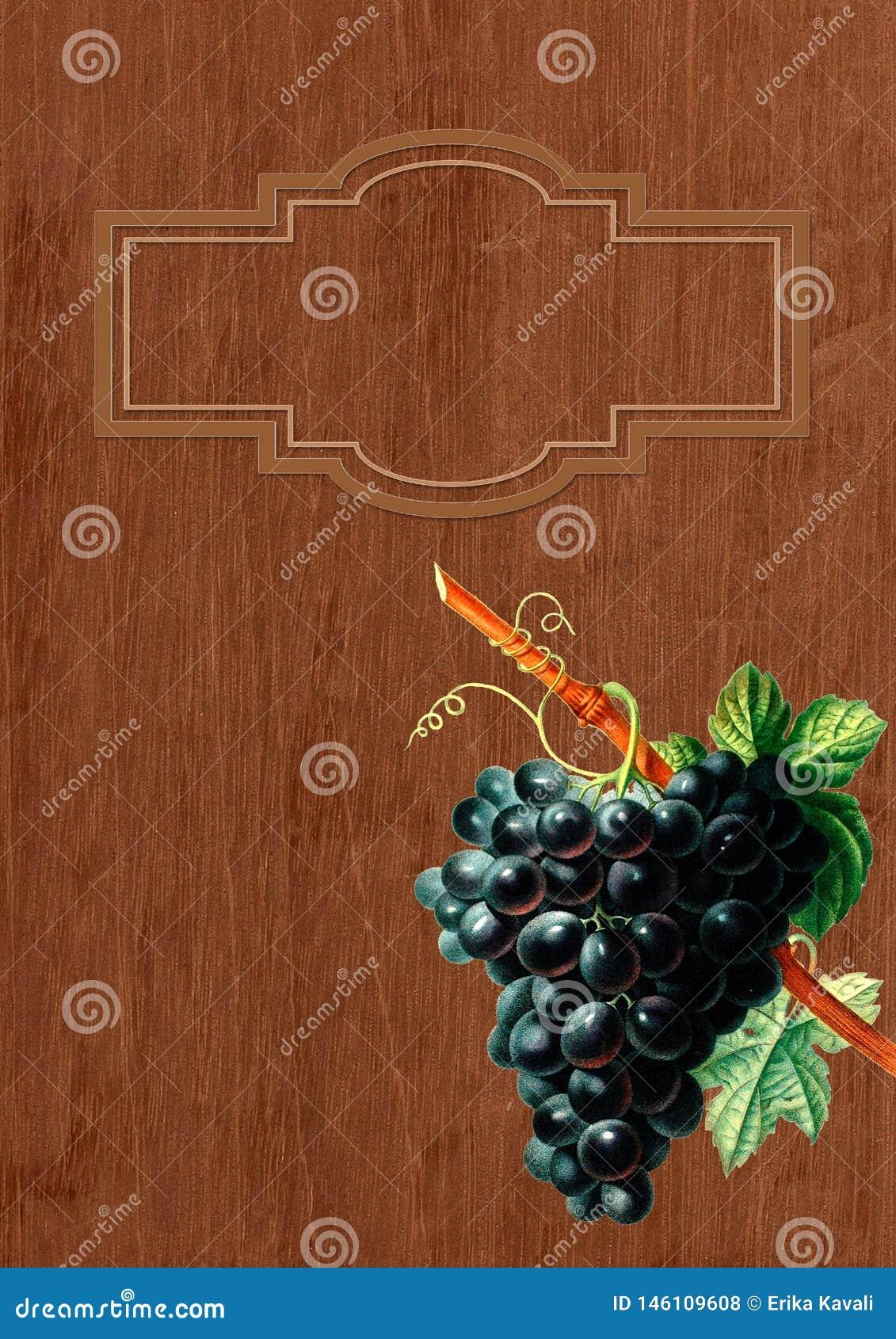 Vintage wine menu list