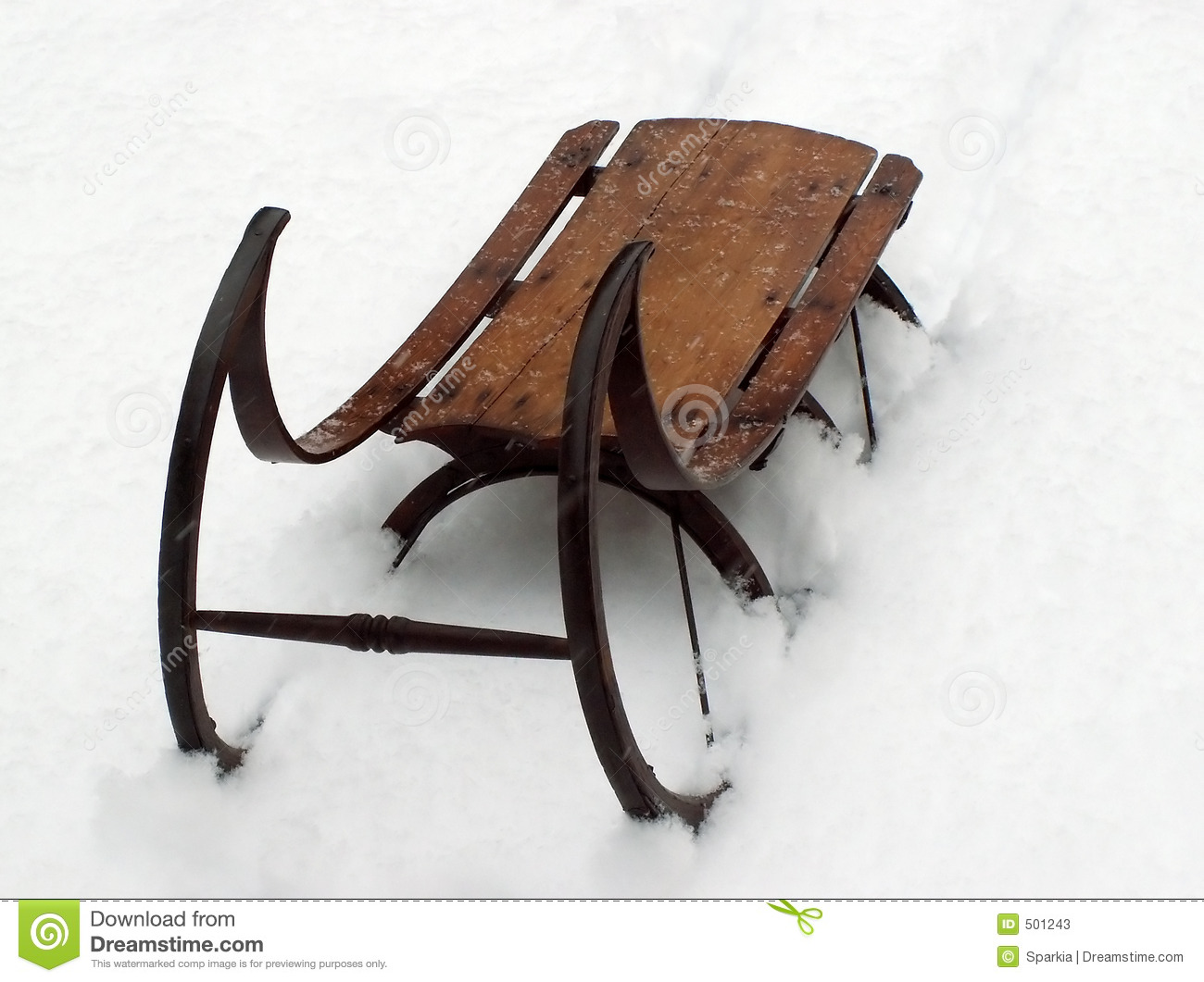 Vintage winter sled stock photos image 501243 for Vintage sleds